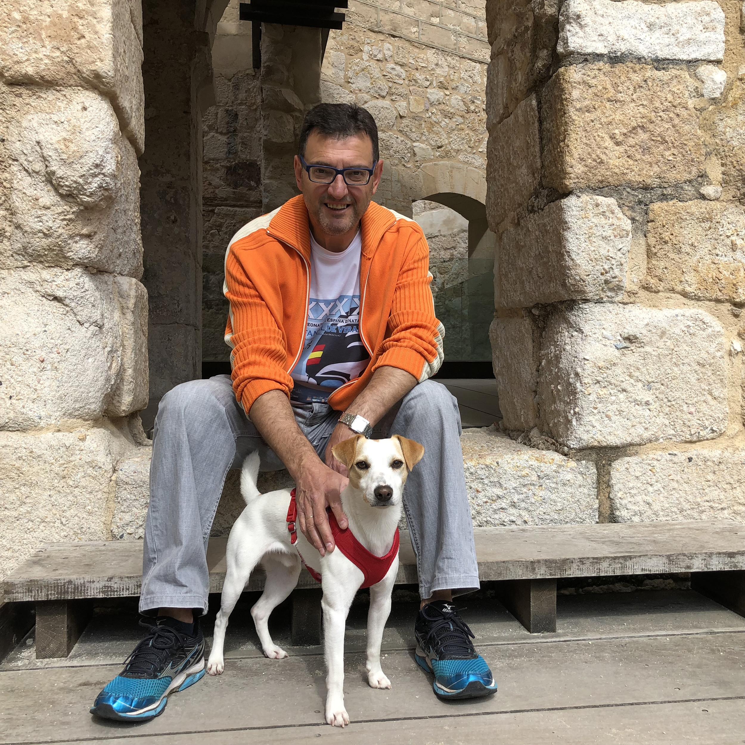 Con José, en el Castillo de Zamora.