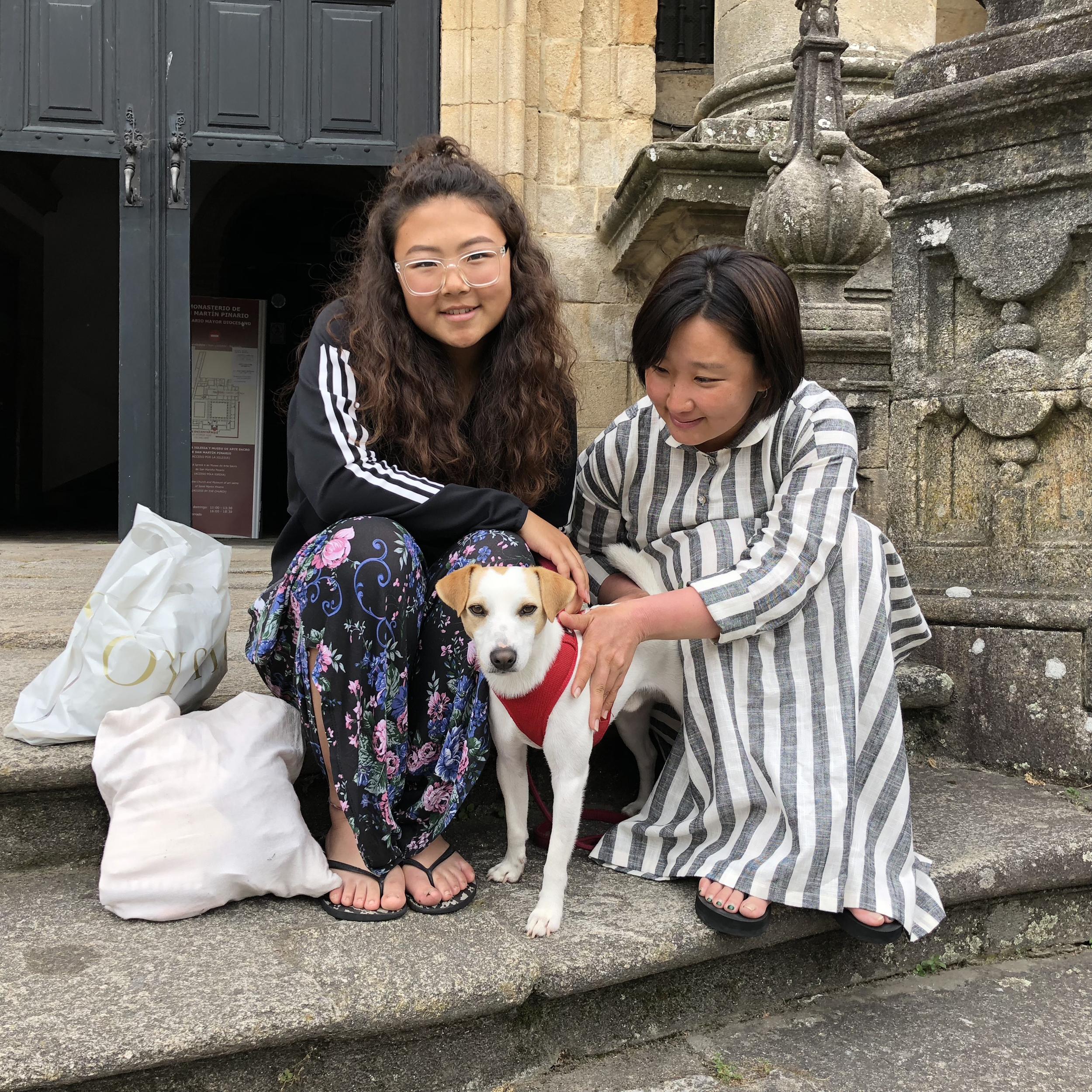 Con Joy y Chan, de Corea del Sur.