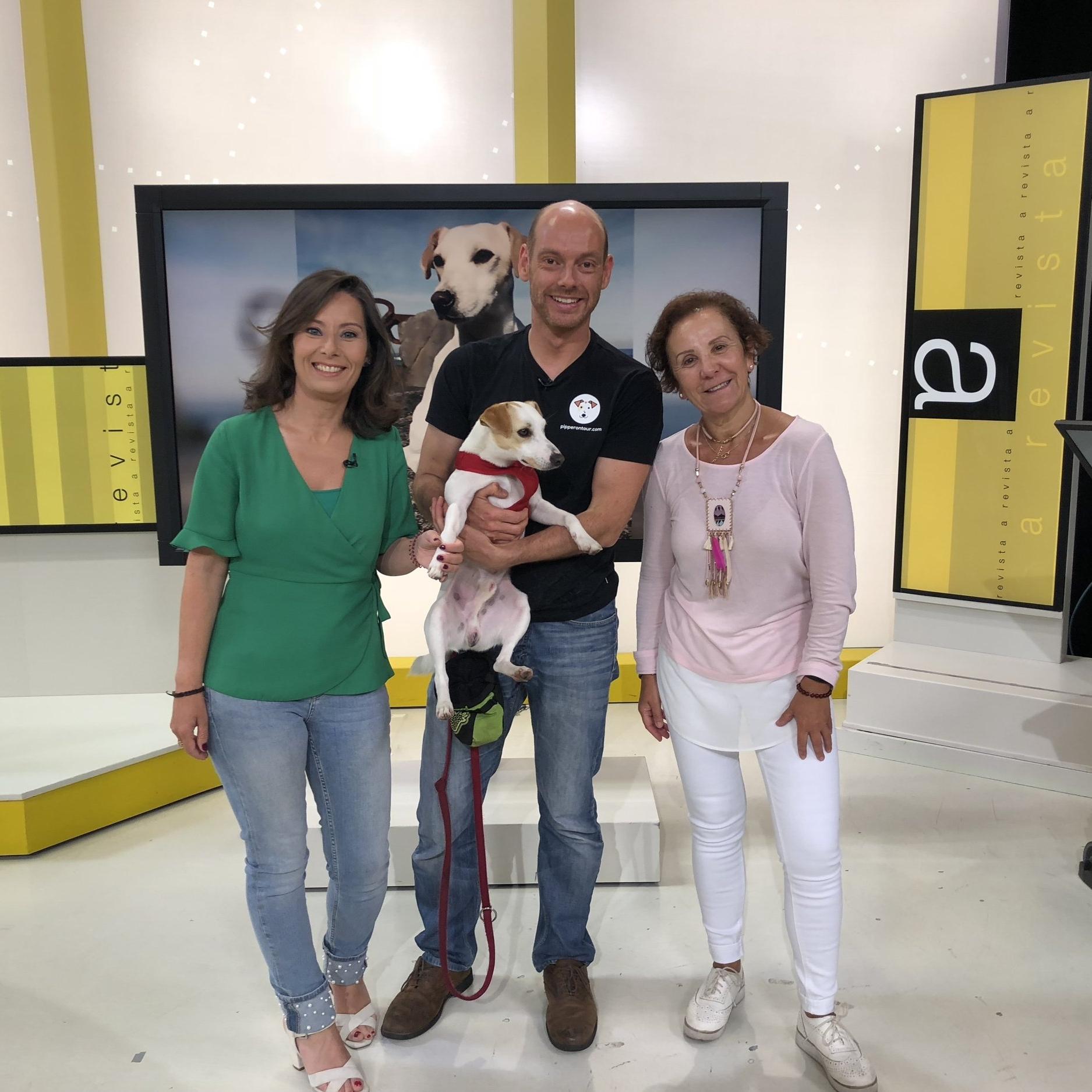 Con el equipo de A Revista y Pablo.