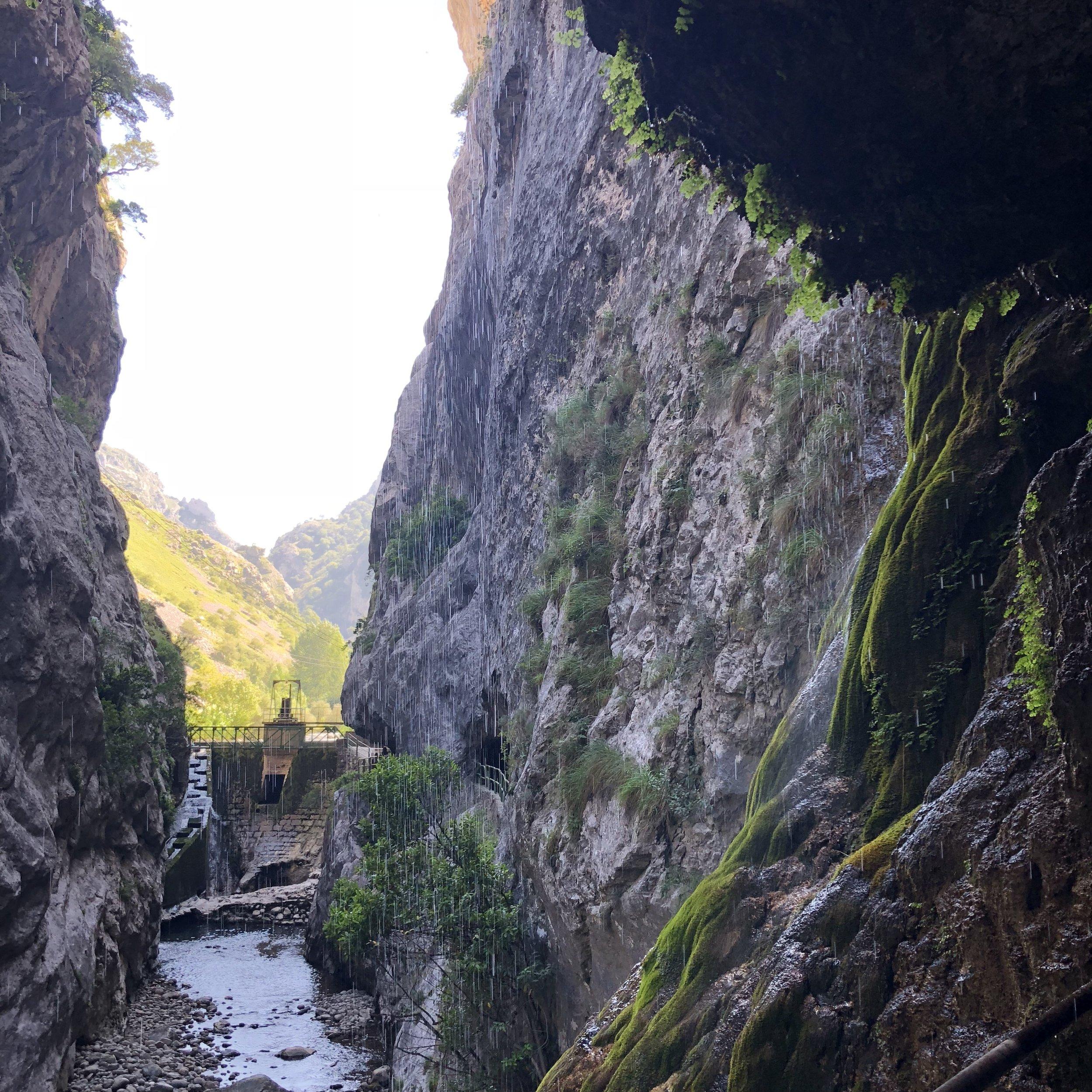 Ruta del Cares junto a Caín.