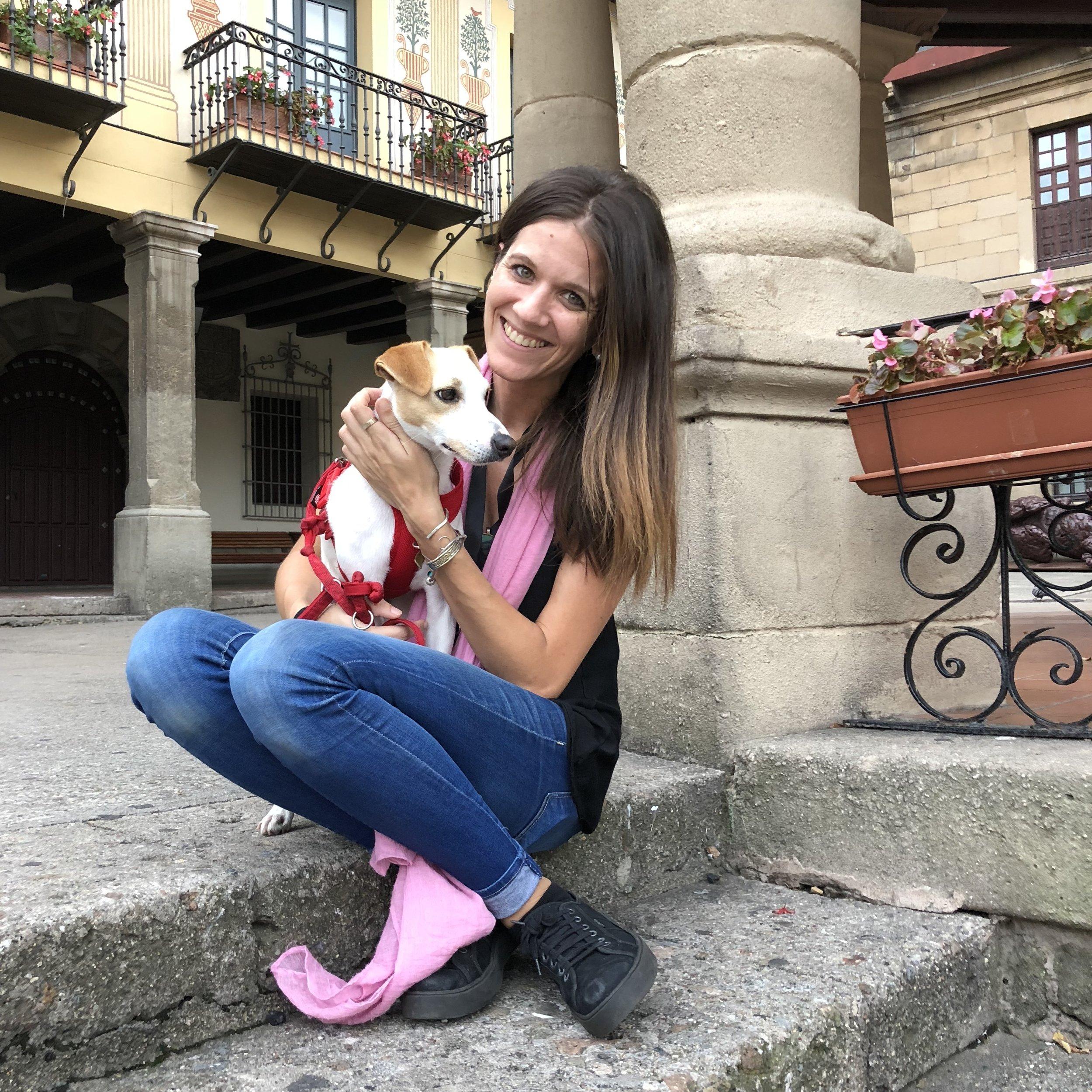 Con Marta en el Pueblo Español.