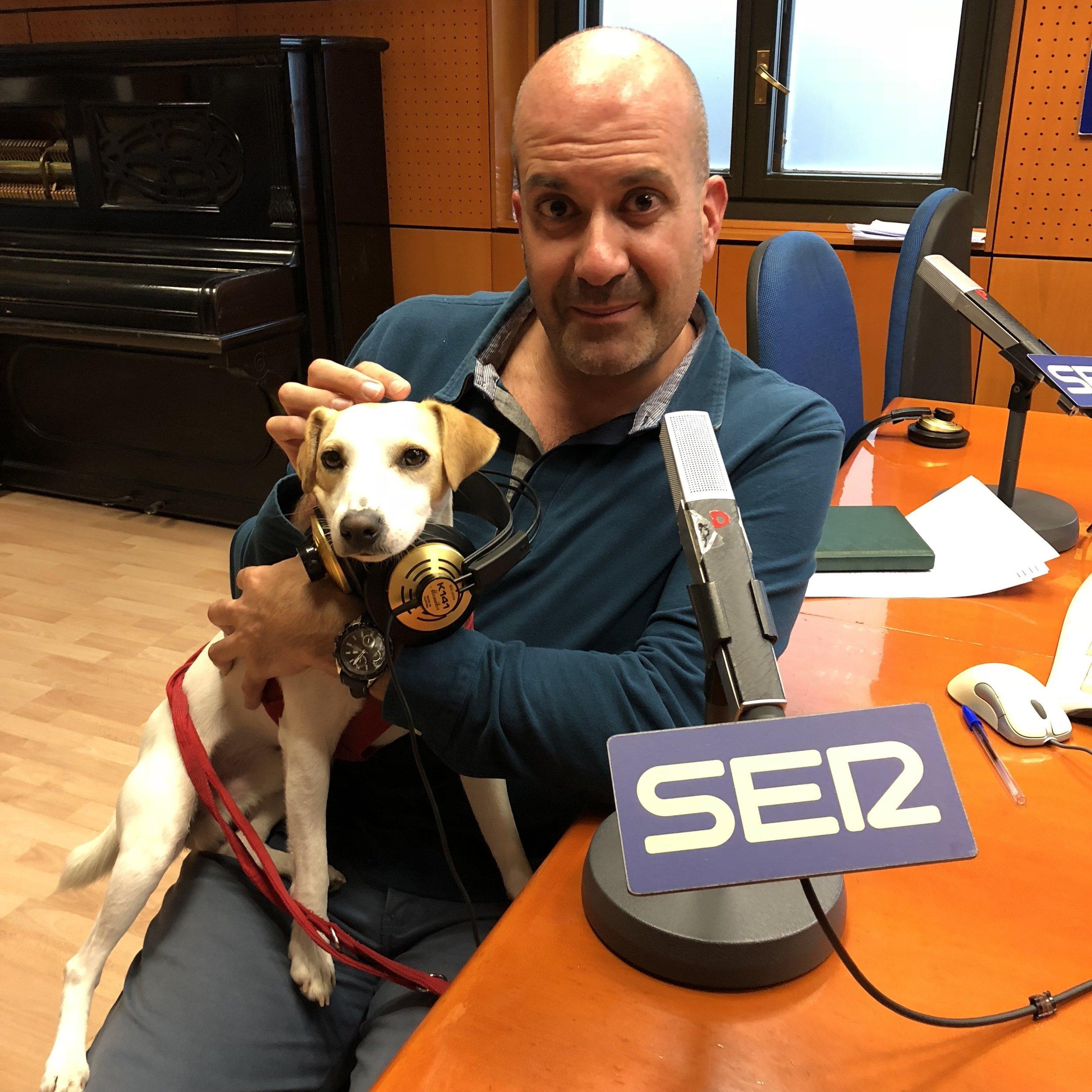 Con Juanjo, de la SER Zaragoza.