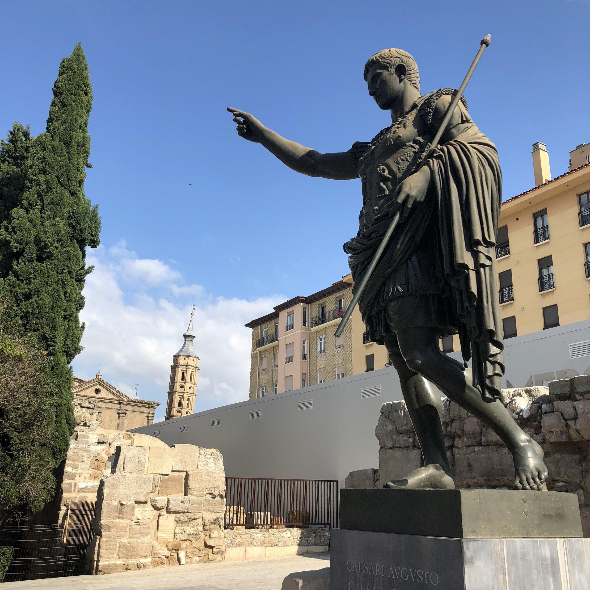 Augusto, primer emperador de Roma y fundador de Caesar Augusta, actual Zaragoza.