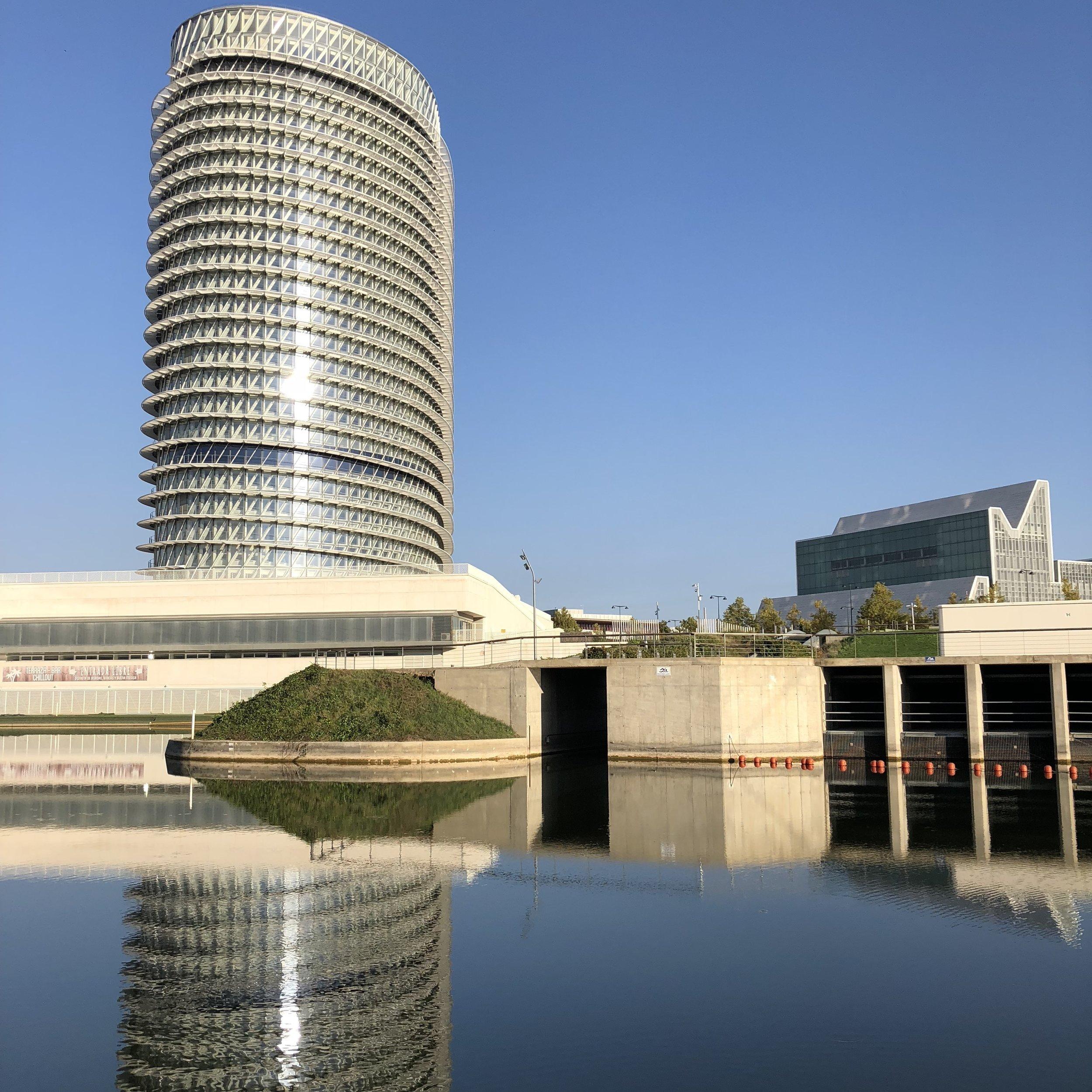 Torre del Agua, en la zona de la Expo.