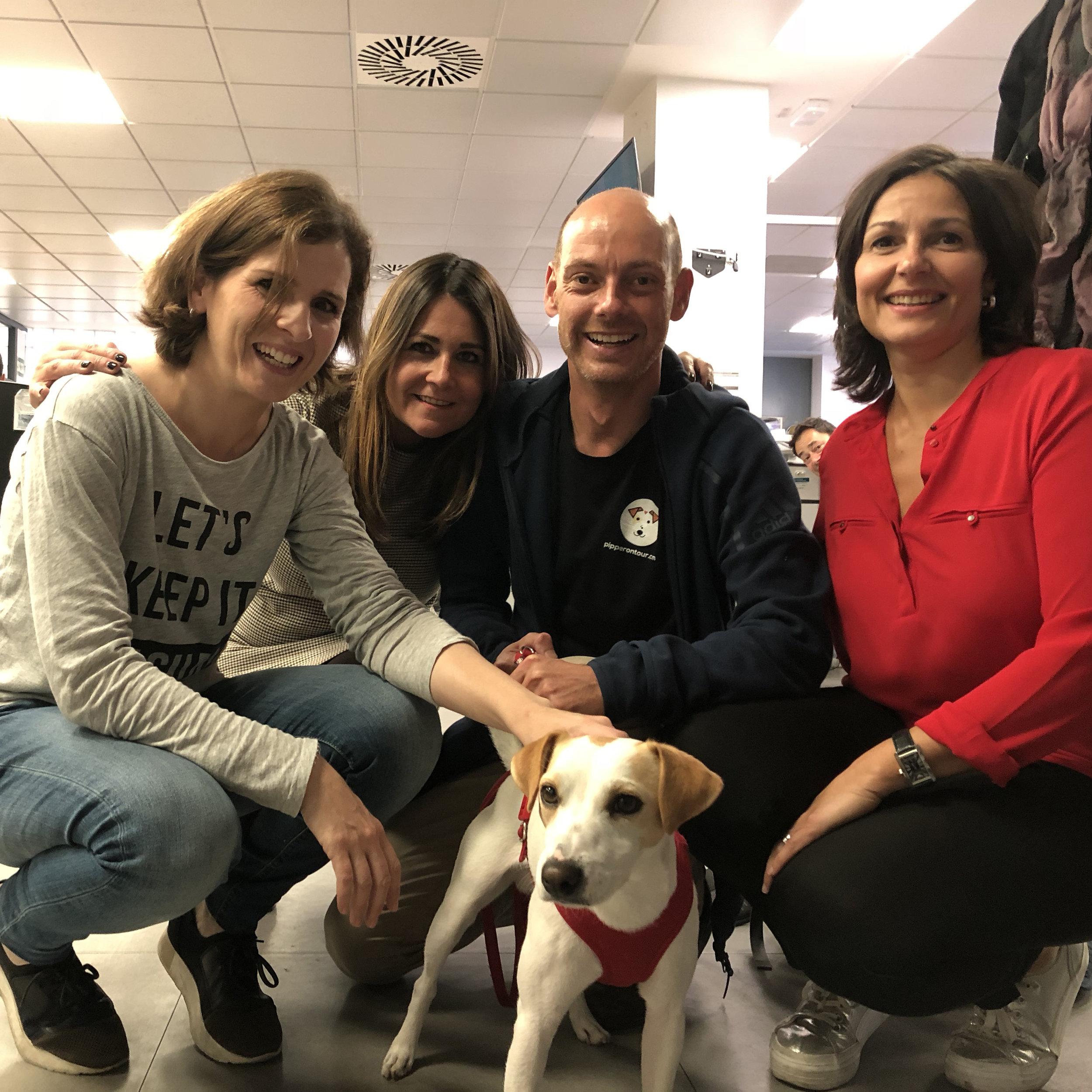 Con Ana, Susana y Vicky en Aragón TV.
