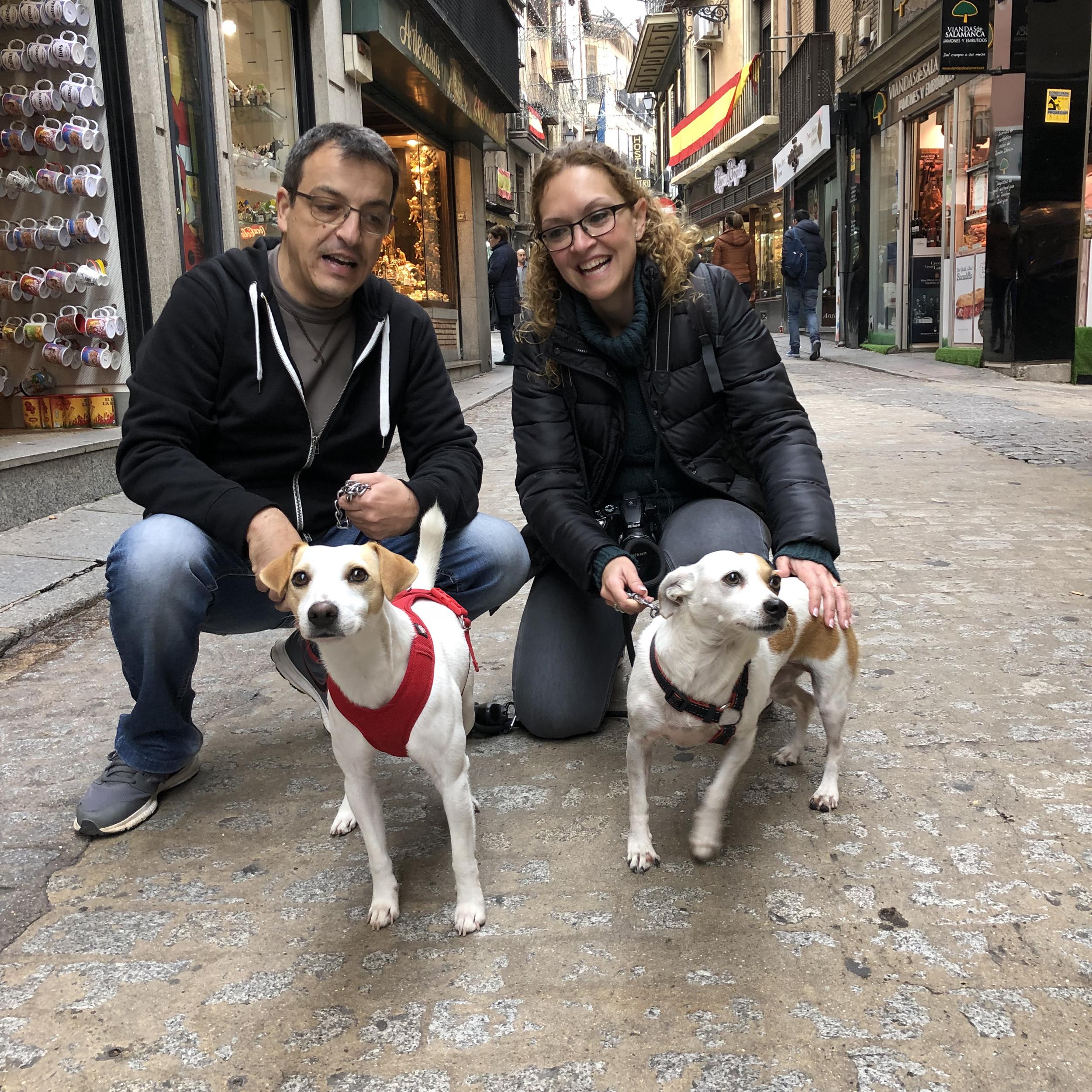 """Con Raquel, Jorge y """"Micra"""" en Toledo."""