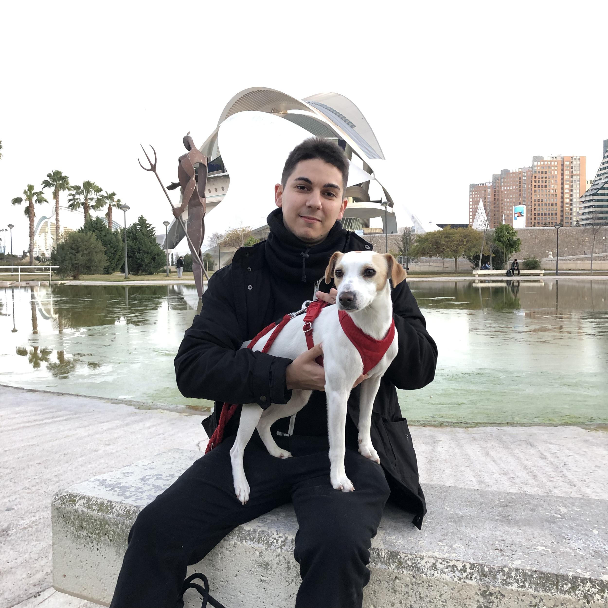 Con Vicente en Valencia.