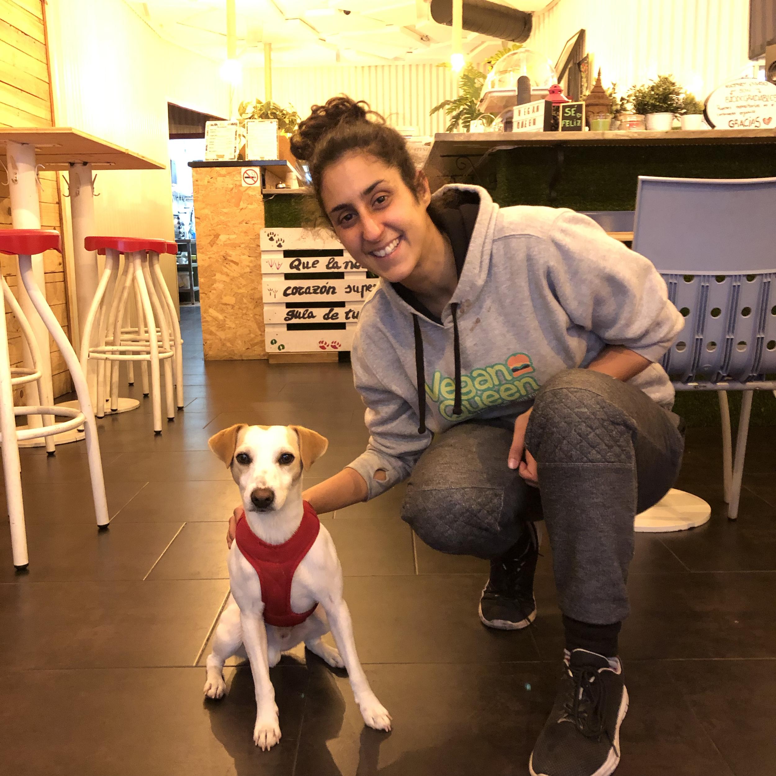 Con Lorena, de Vegan Queen, en Murcia.