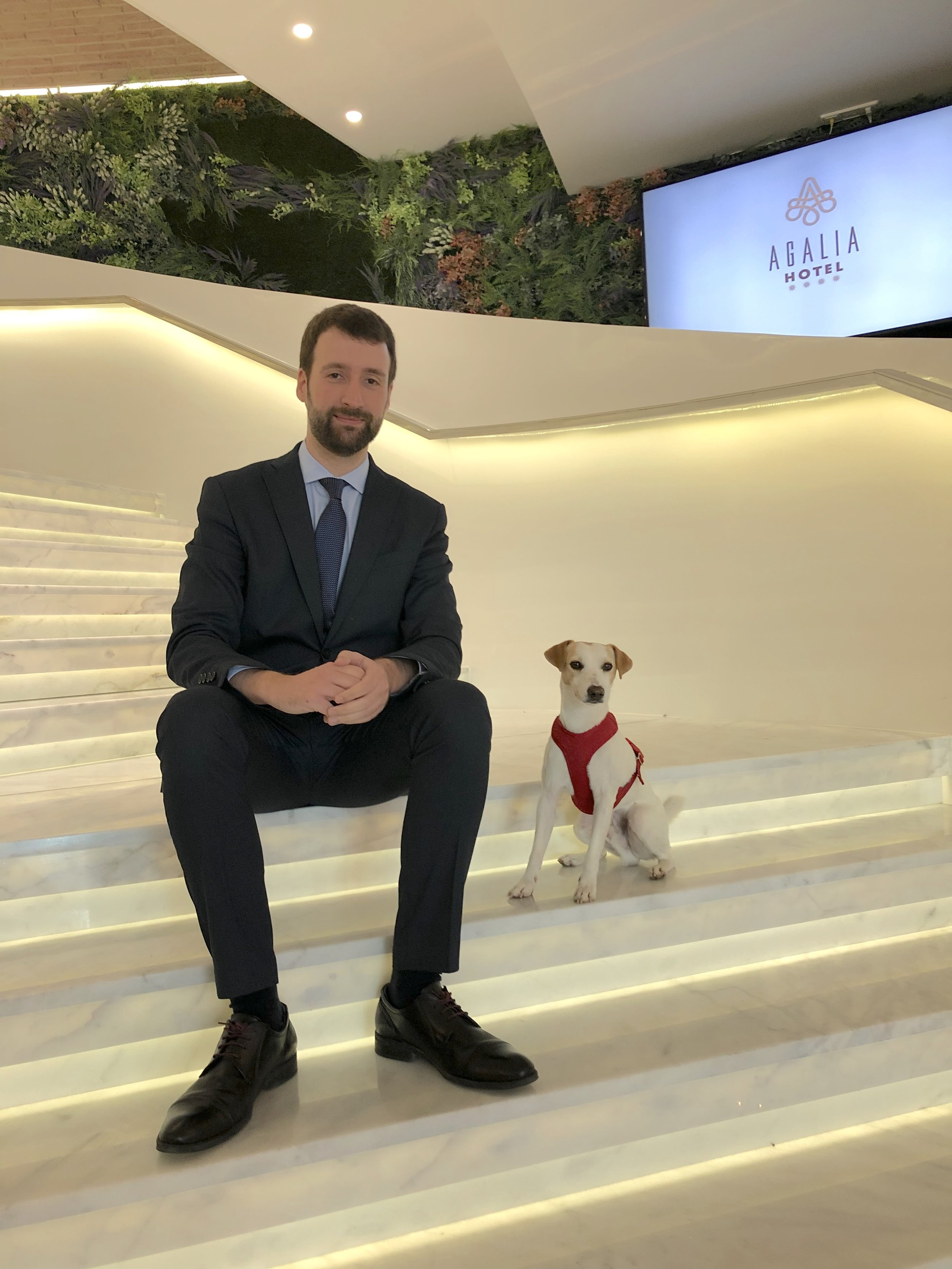 Con Javier en Agalia Hotel (Murcia).