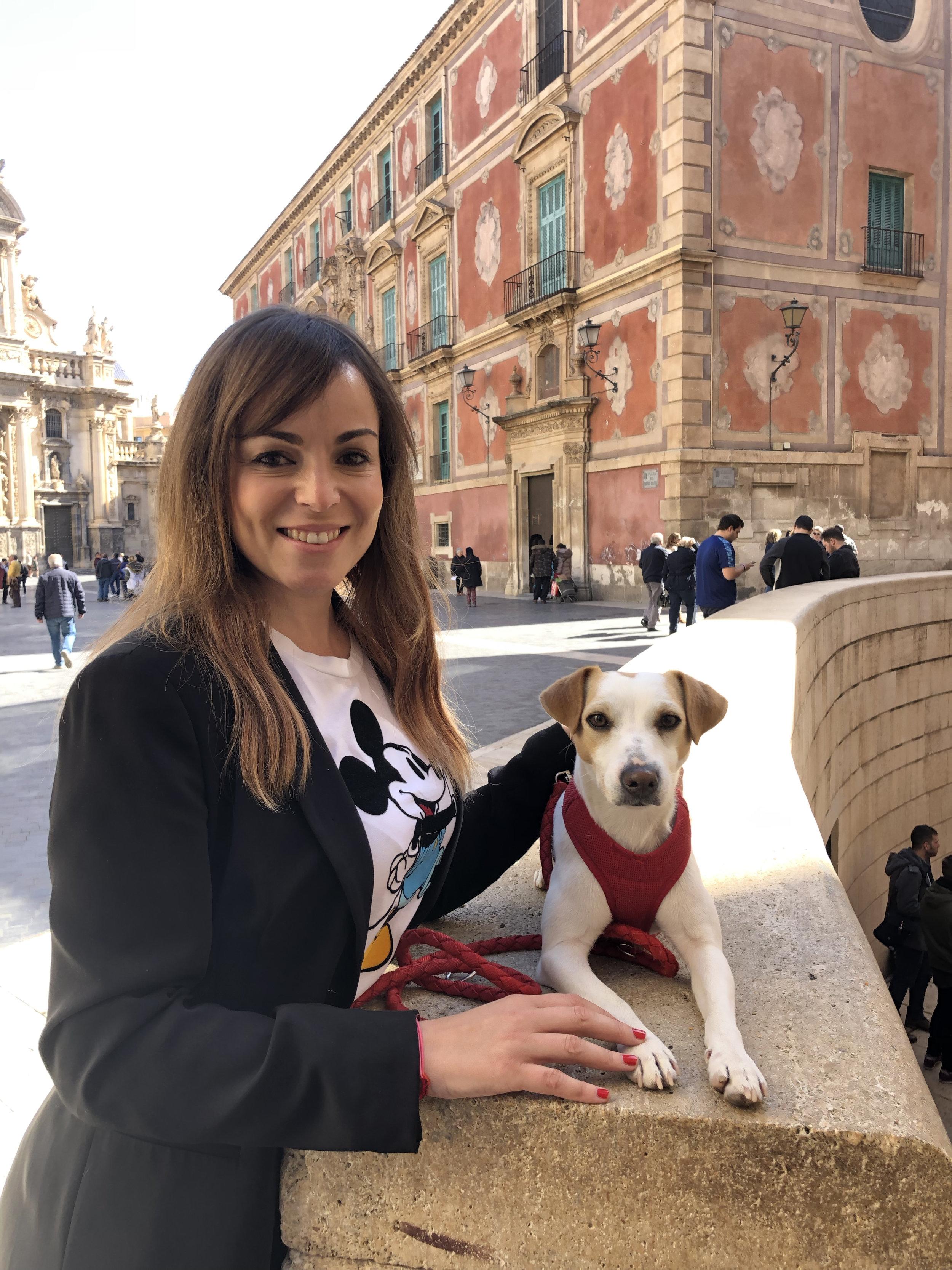 Con Rebeca en Murcia.