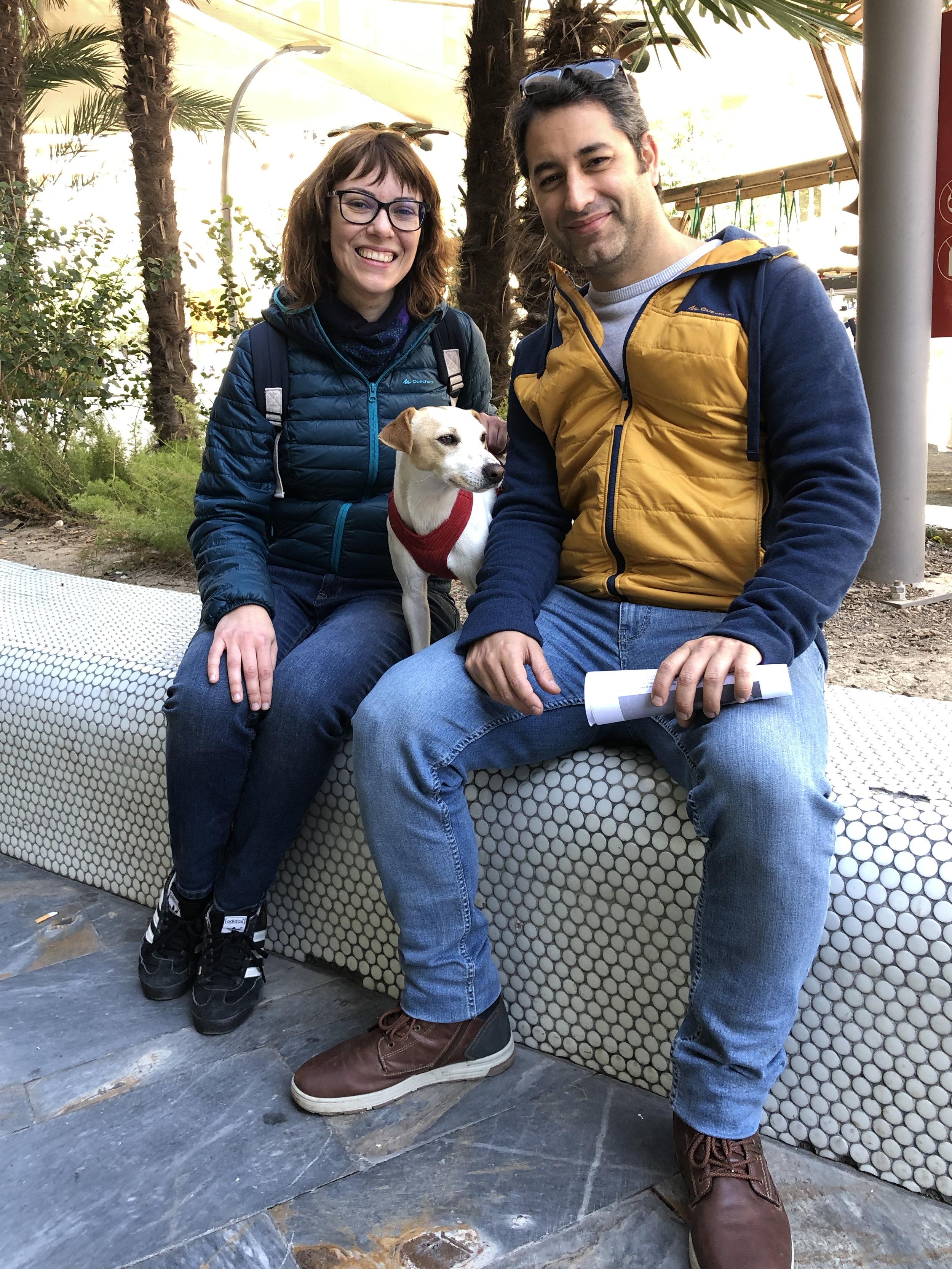 Con Inma y Dani, en Murcia.