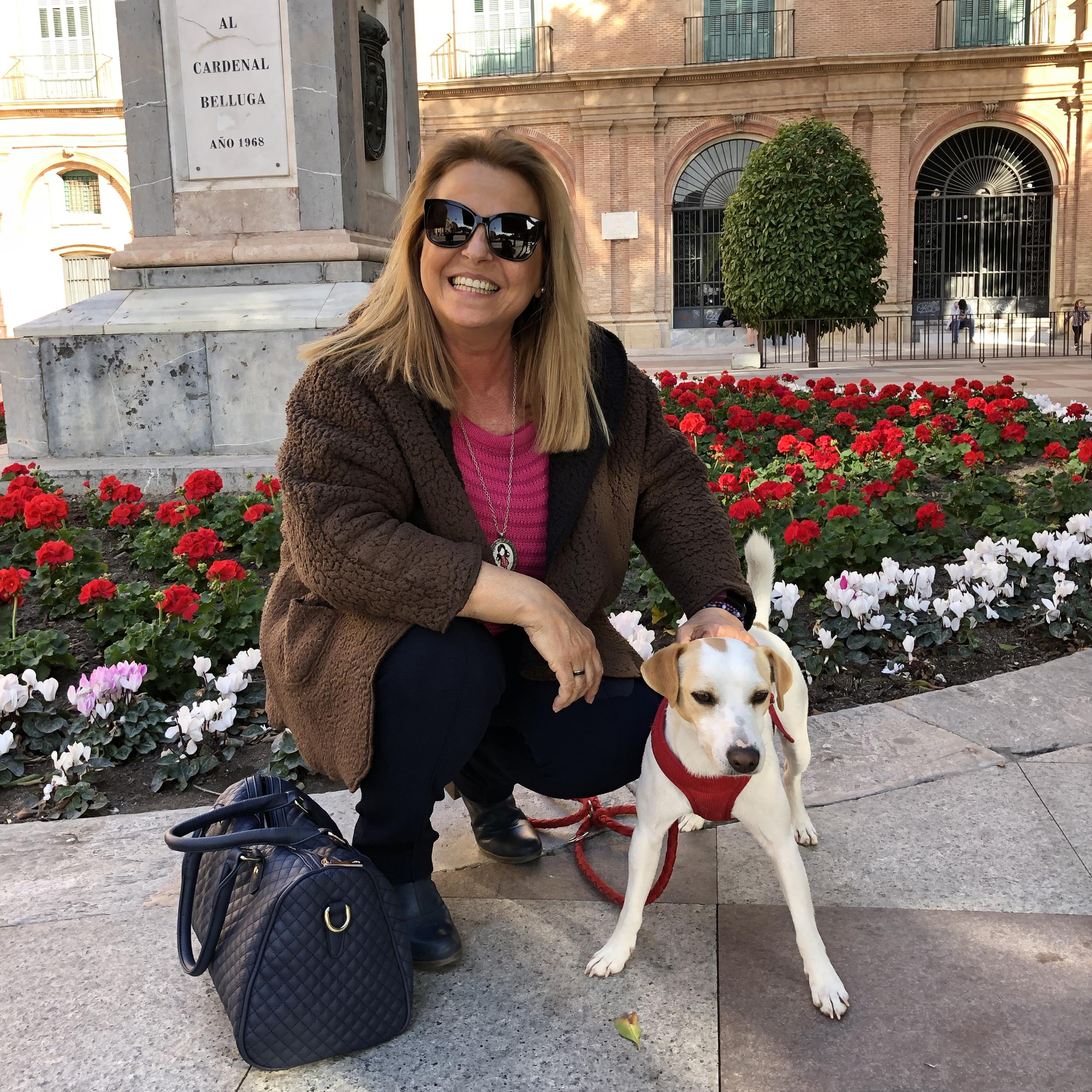 Con Trini en Murcia.