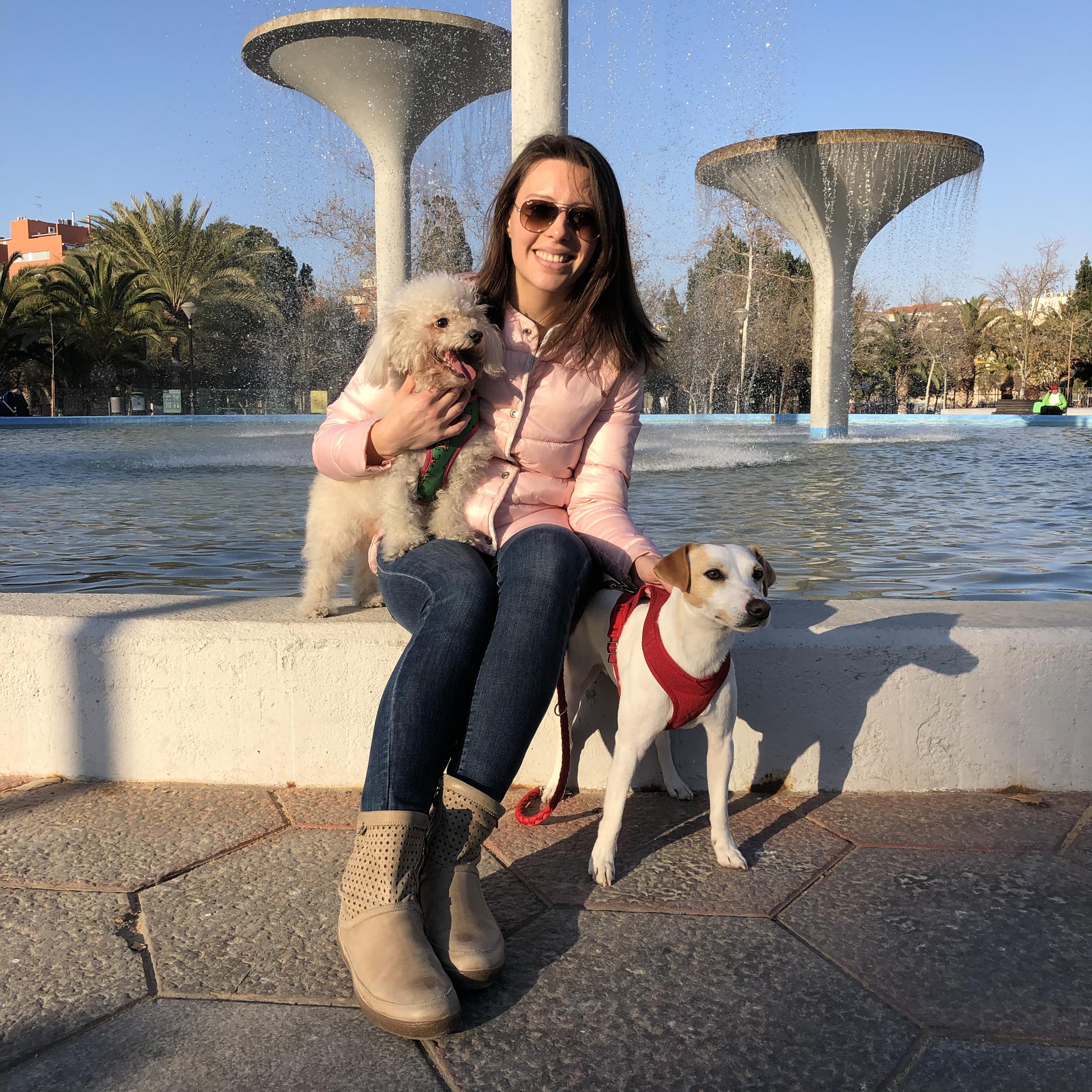 """Con Marisa y """"Duna"""" en Murcia."""