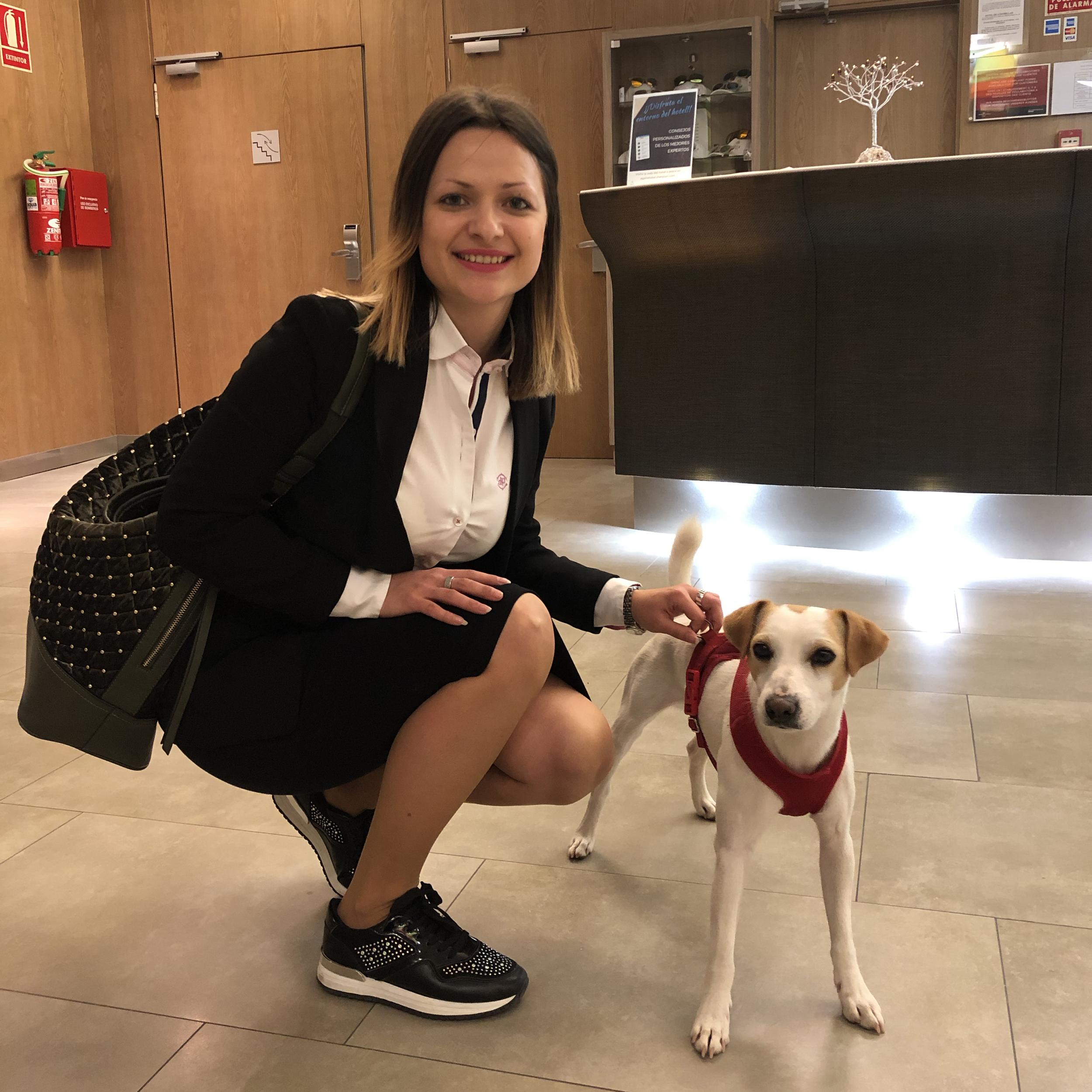 Con Verónica, en Murcia.