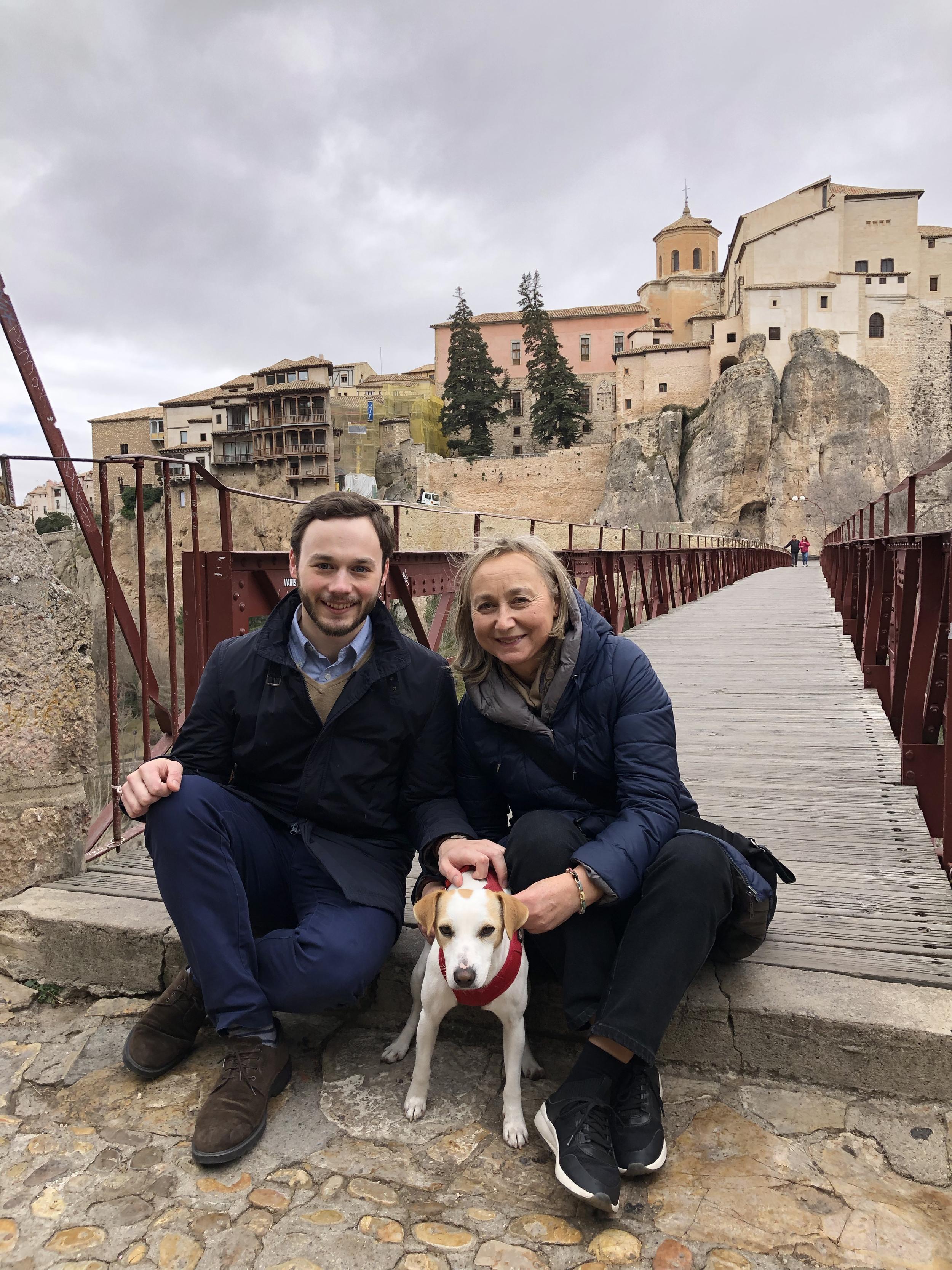 Con María y Pablo.