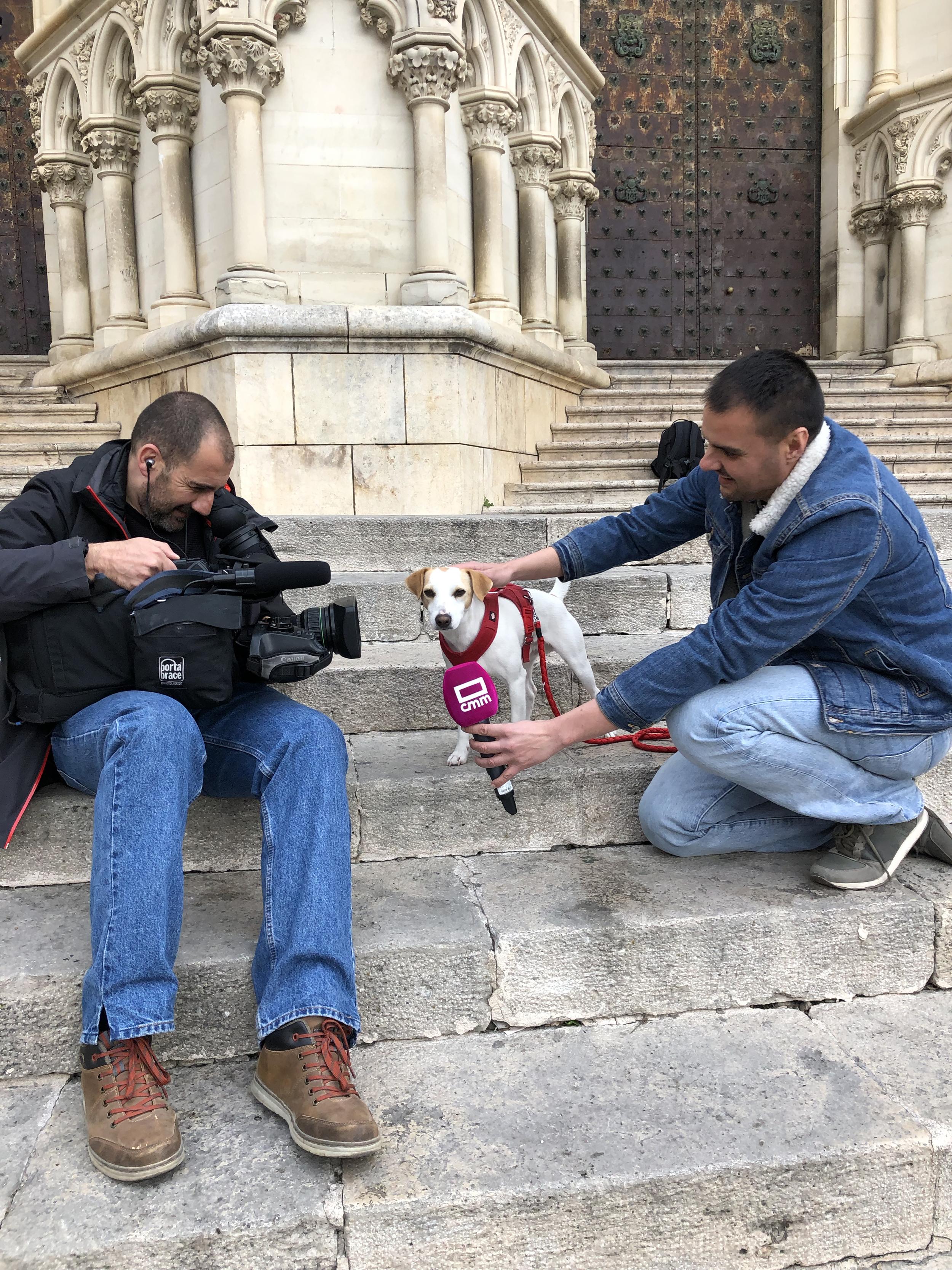 Con el equipo de informativos de la TV de Castilla-La Mancha.