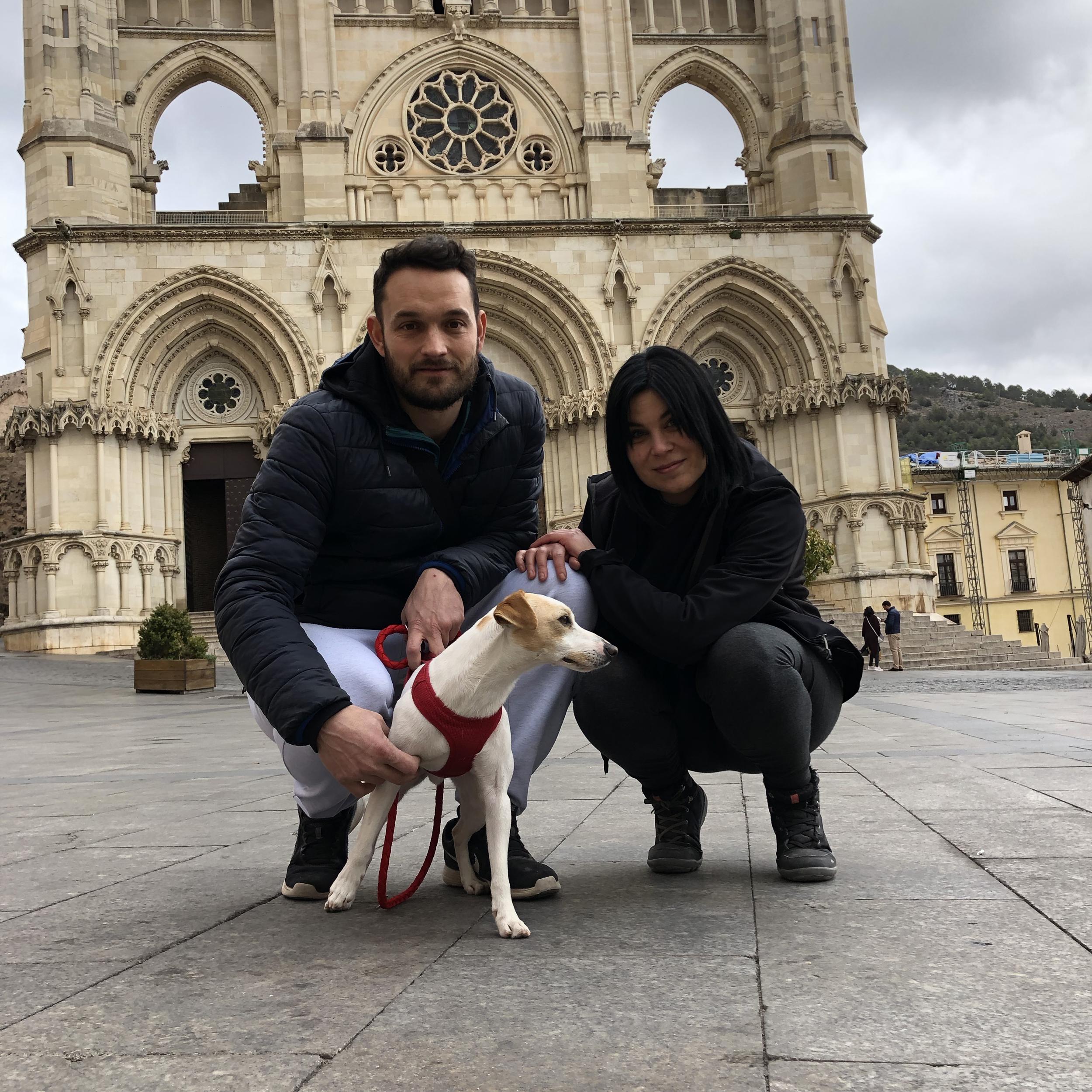 Con Carlos y Yasmina.