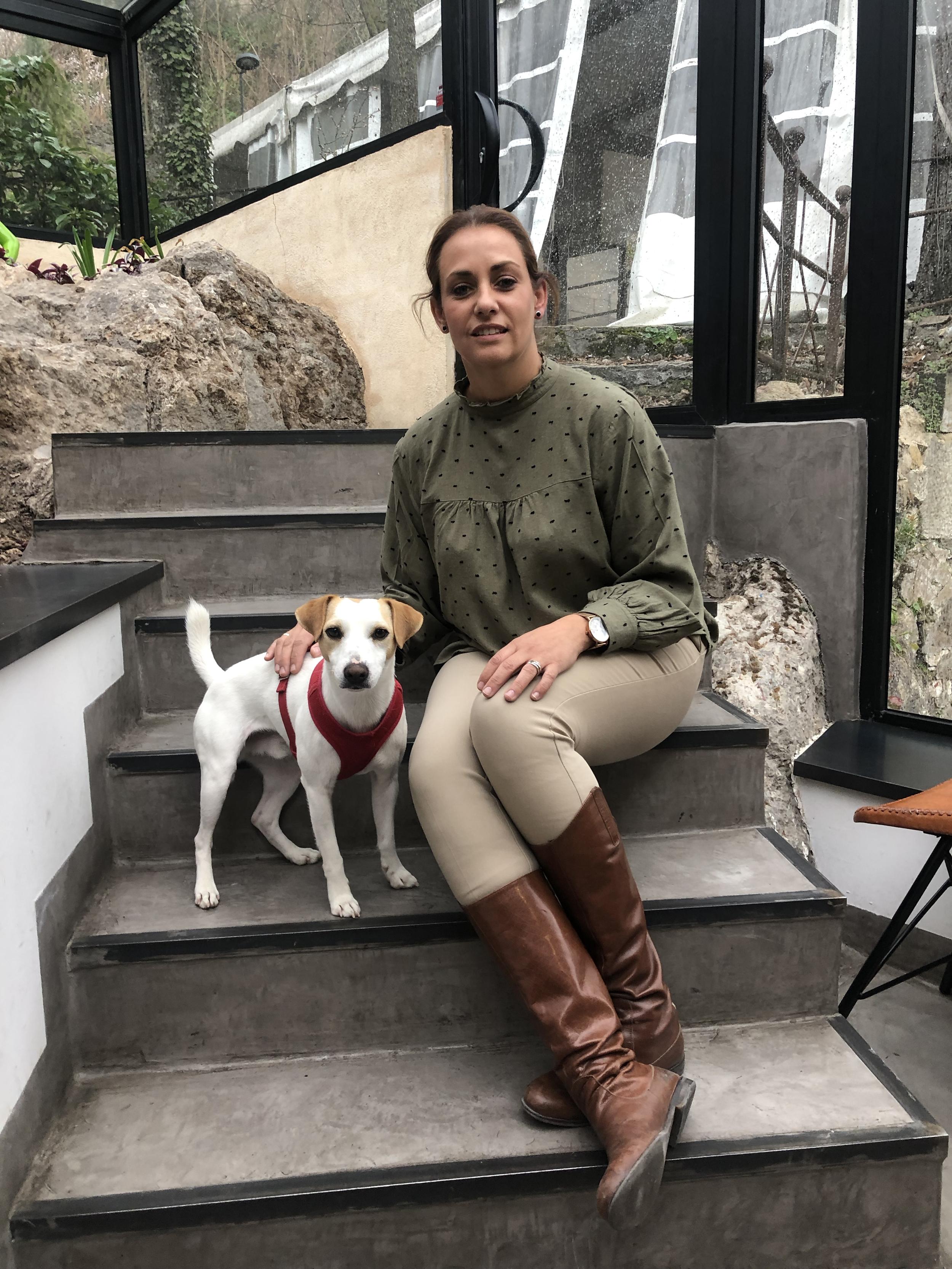 Con Erika en el restaurante Recreo Peral.