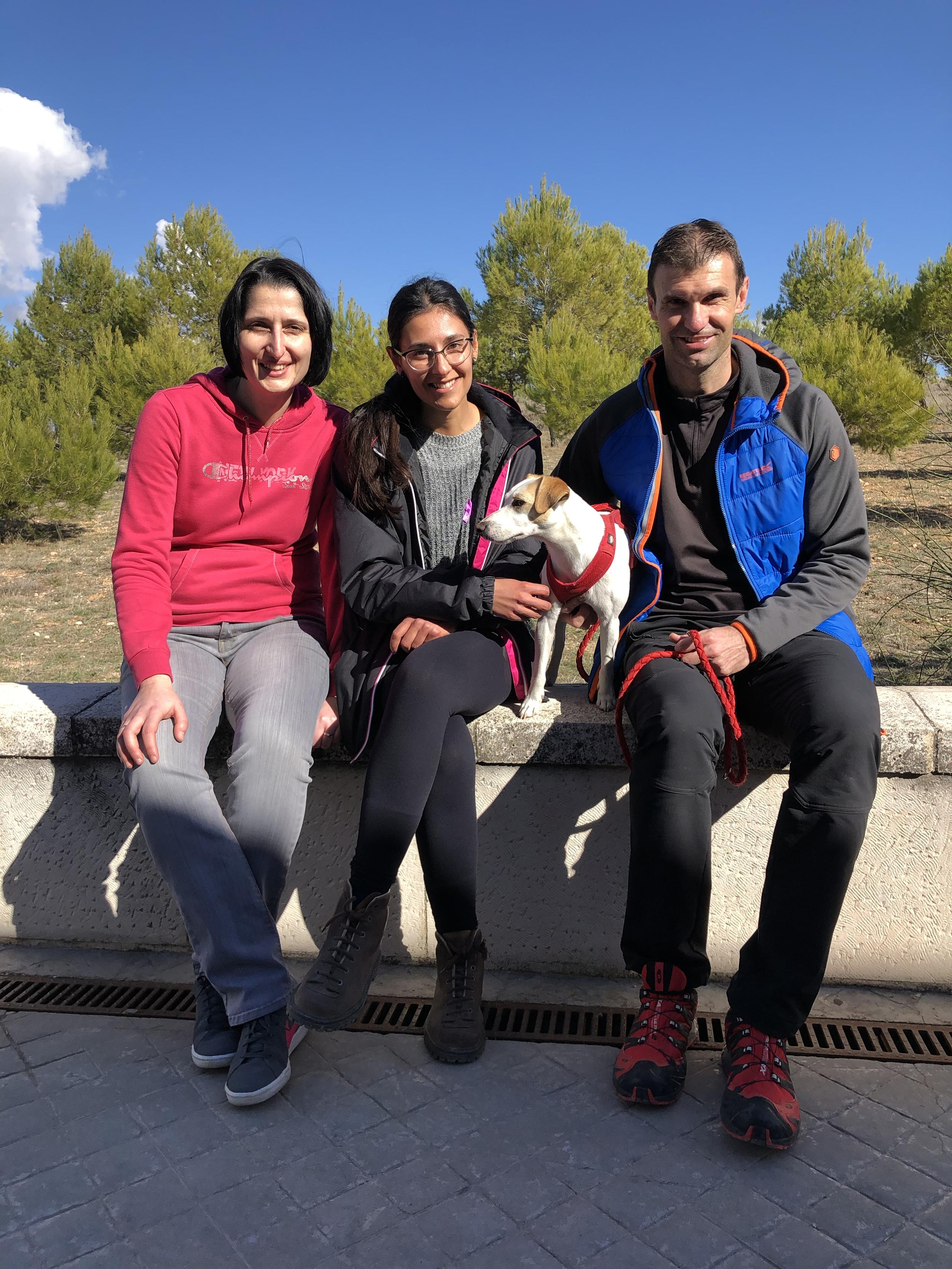 Con Elena, Alicia y Guillermo en Segóbriga.