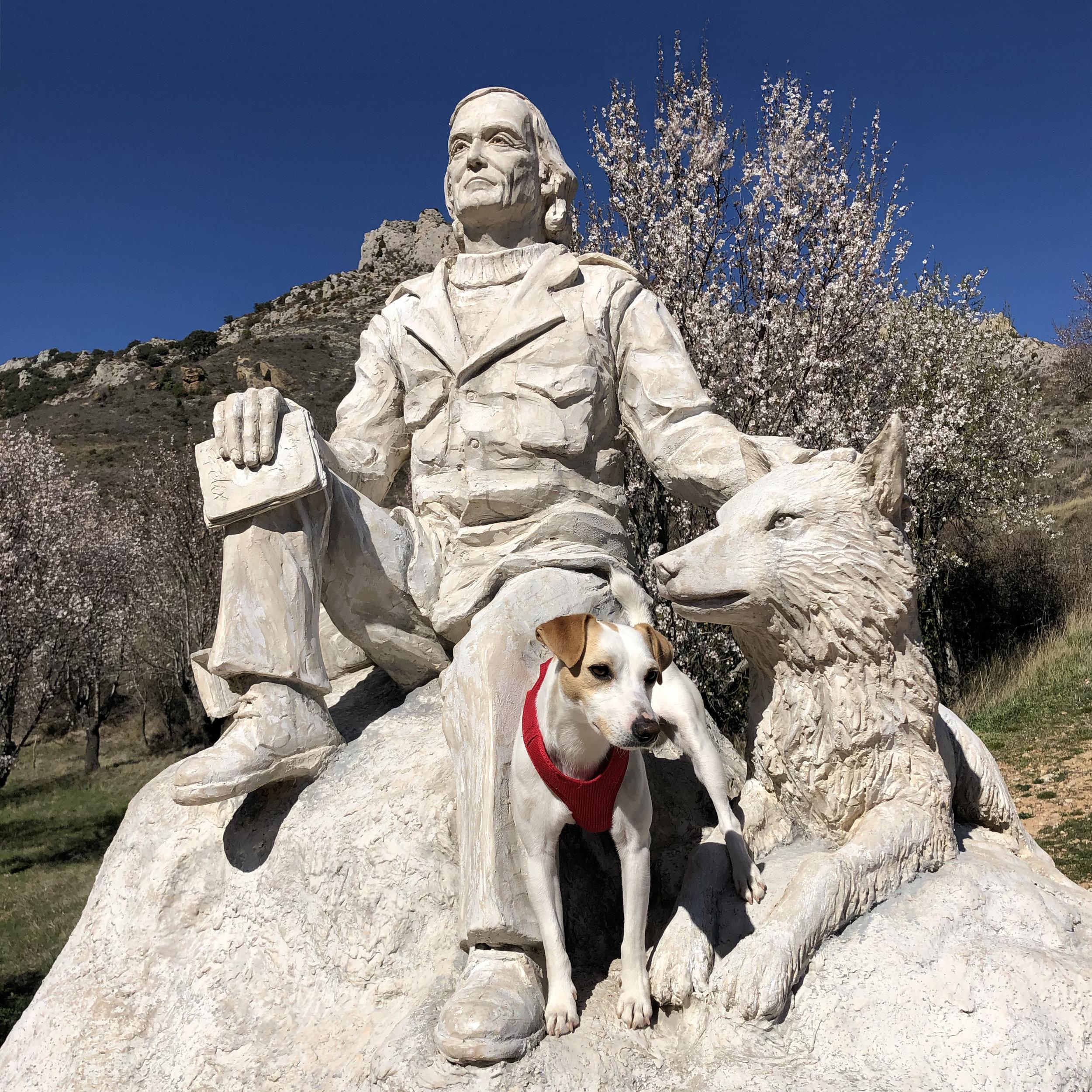 Rindiendo homenaje a Félix Rodríguez de la Fuente en Poza de la Sal.