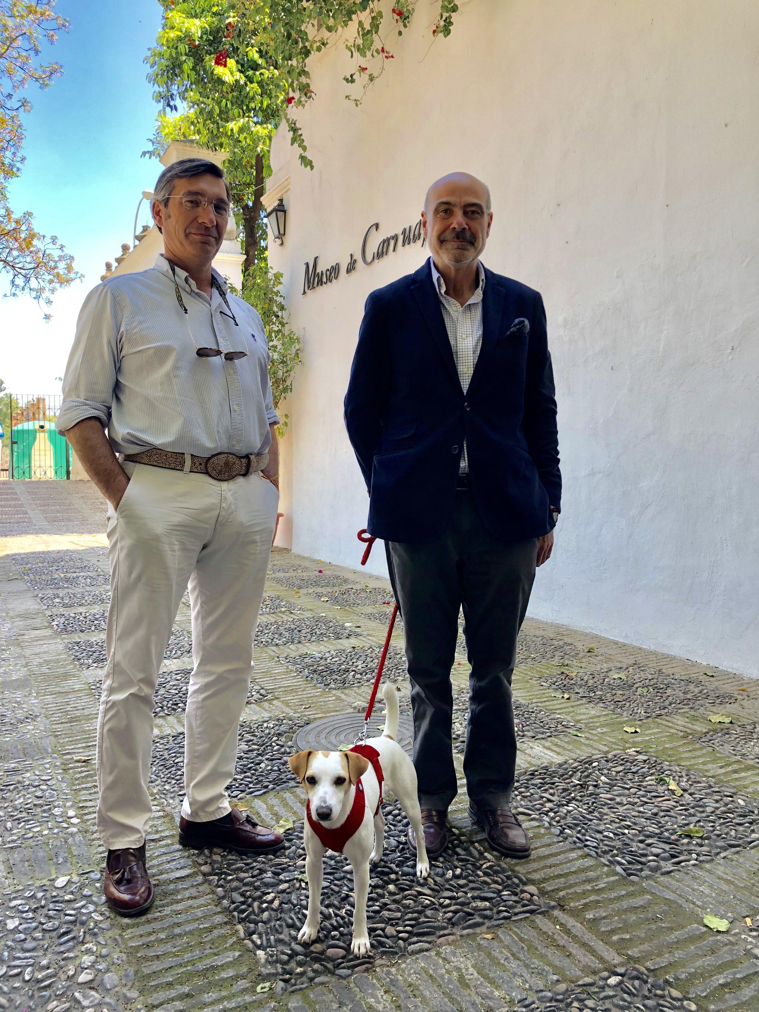 Con Goyo y Jose Juan en el Museo de Carruajes de Sevilla.