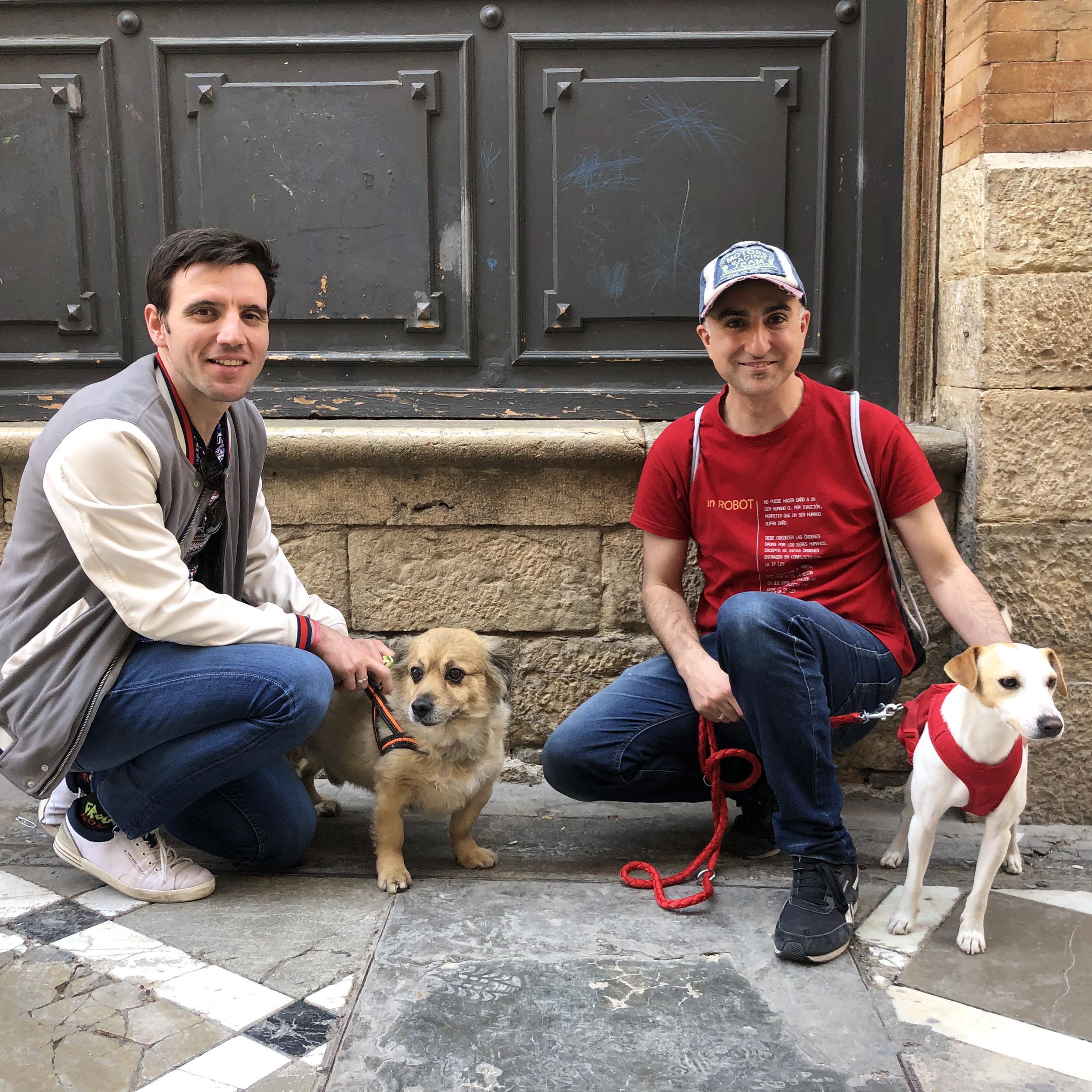 Con César y Sergio en  Jaén.