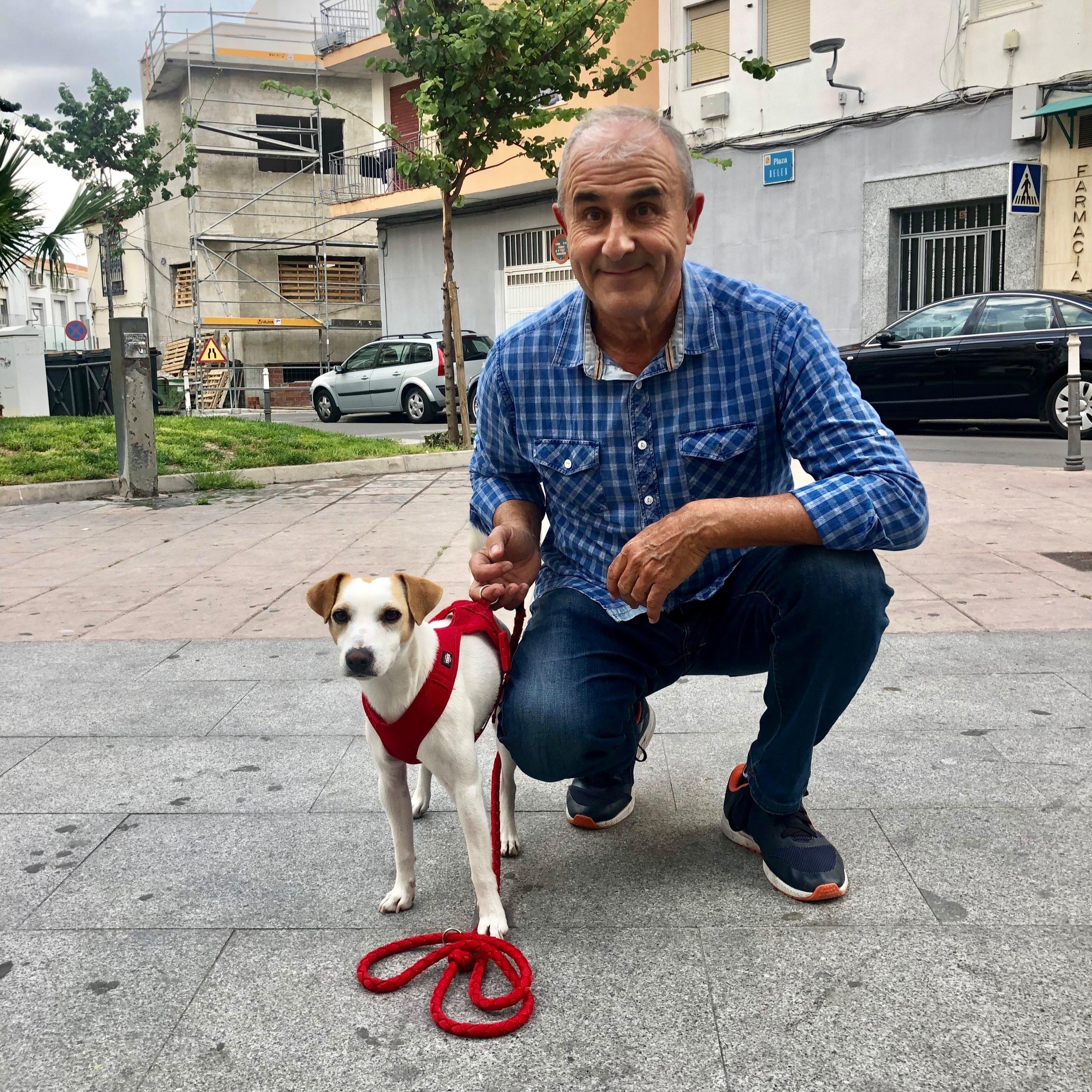 Con un amigo en Jaén.