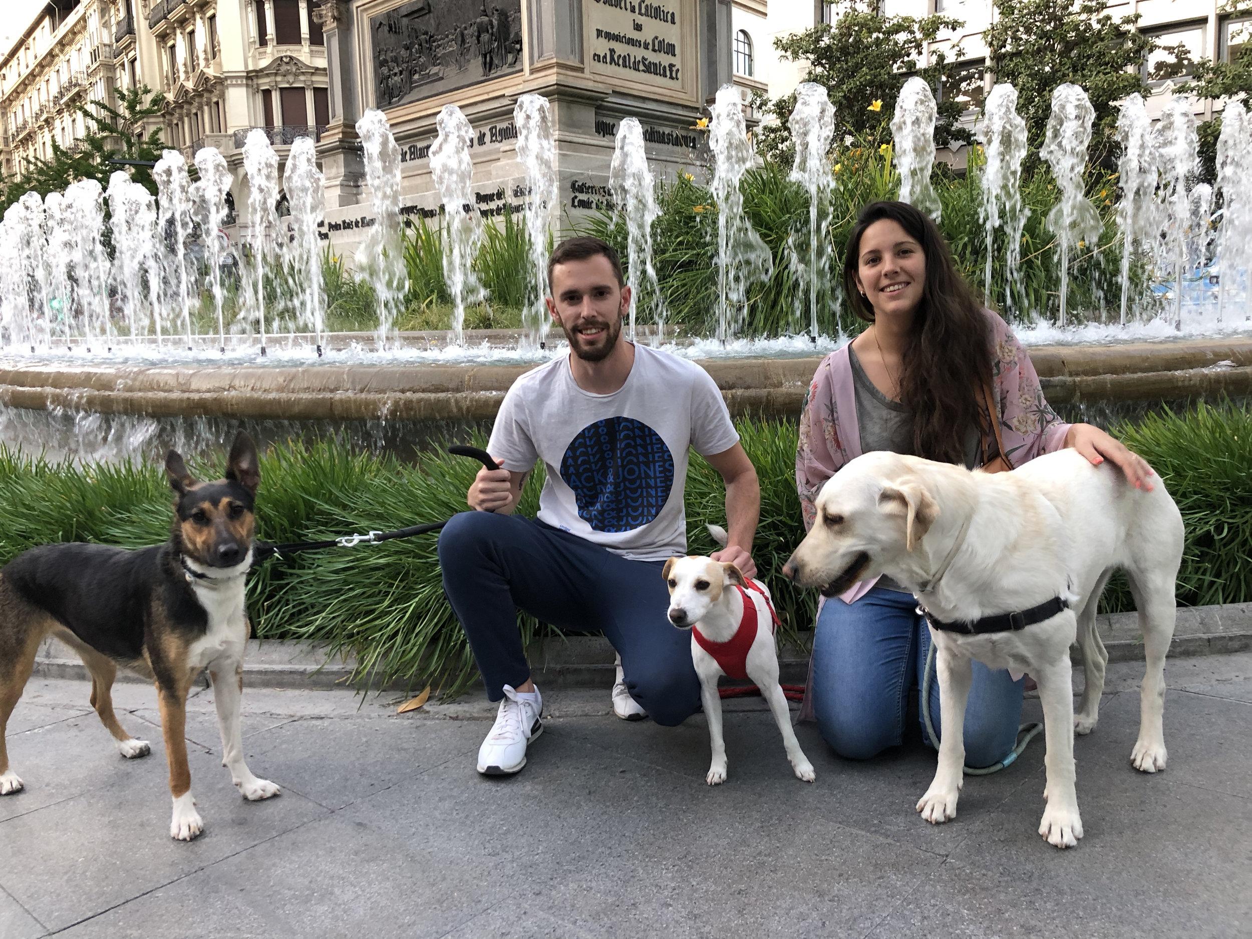 Con unos amigos en Granada.