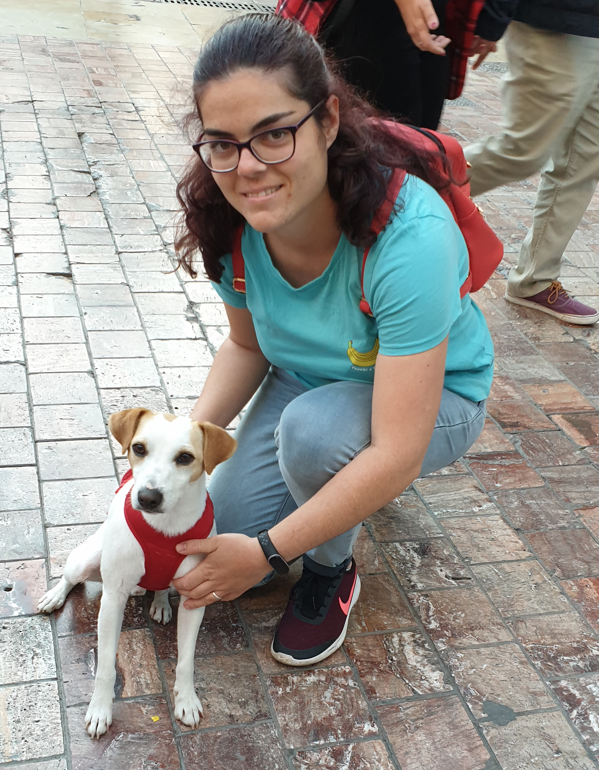 Con Cristina en Málaga.