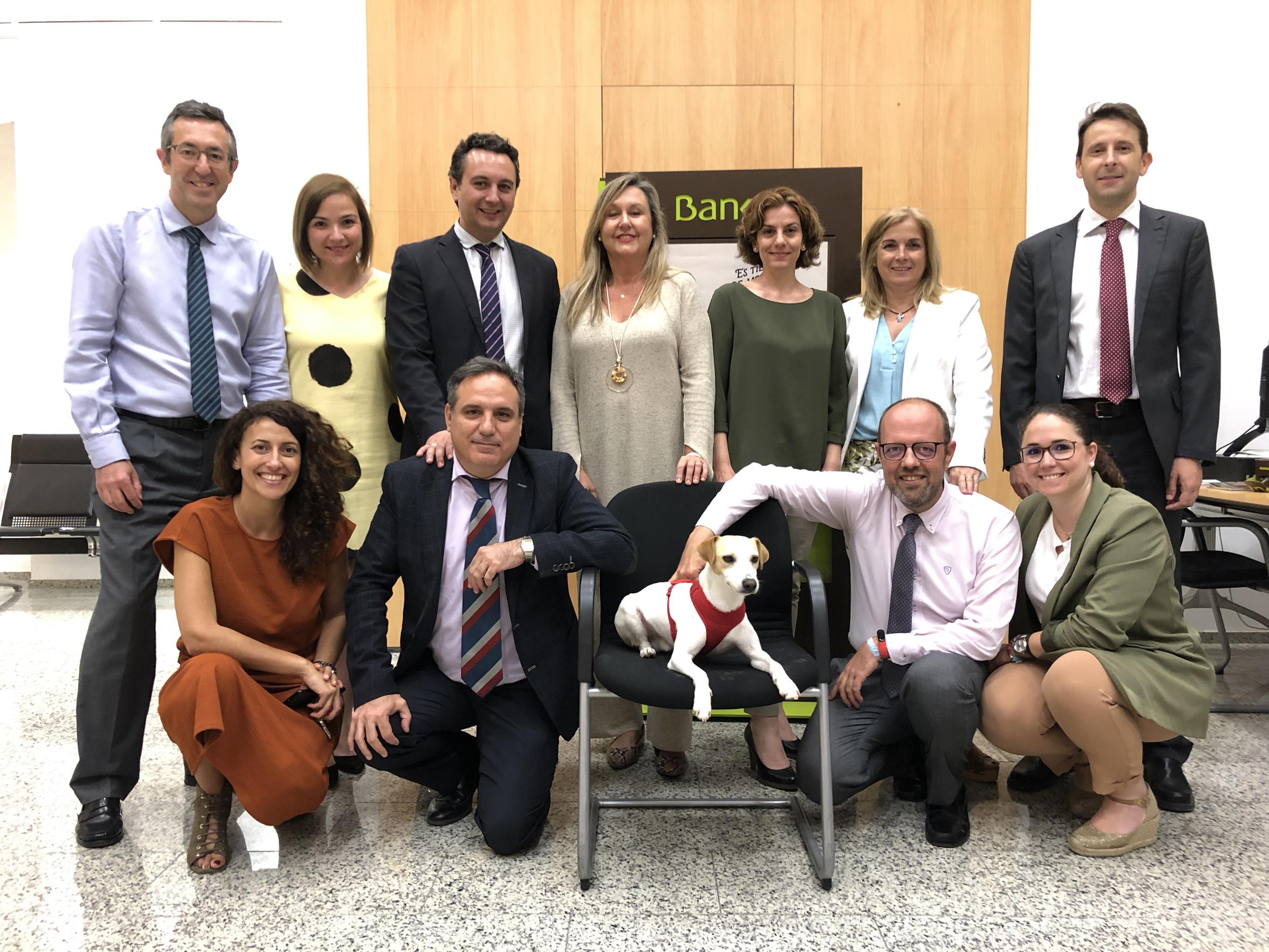 Con compañeros de Bankia de Málaga.