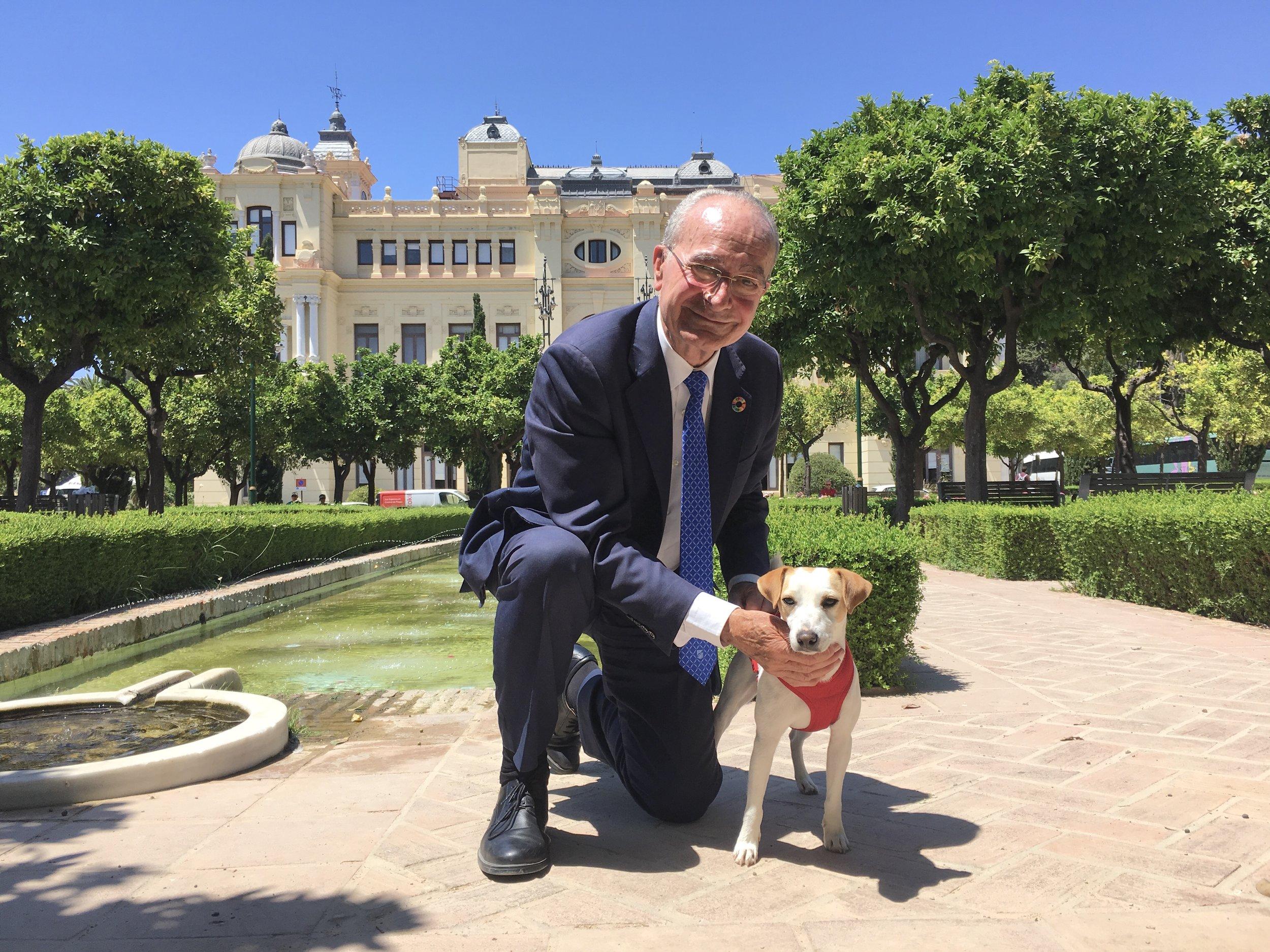 Con el alcalde de Málaga.