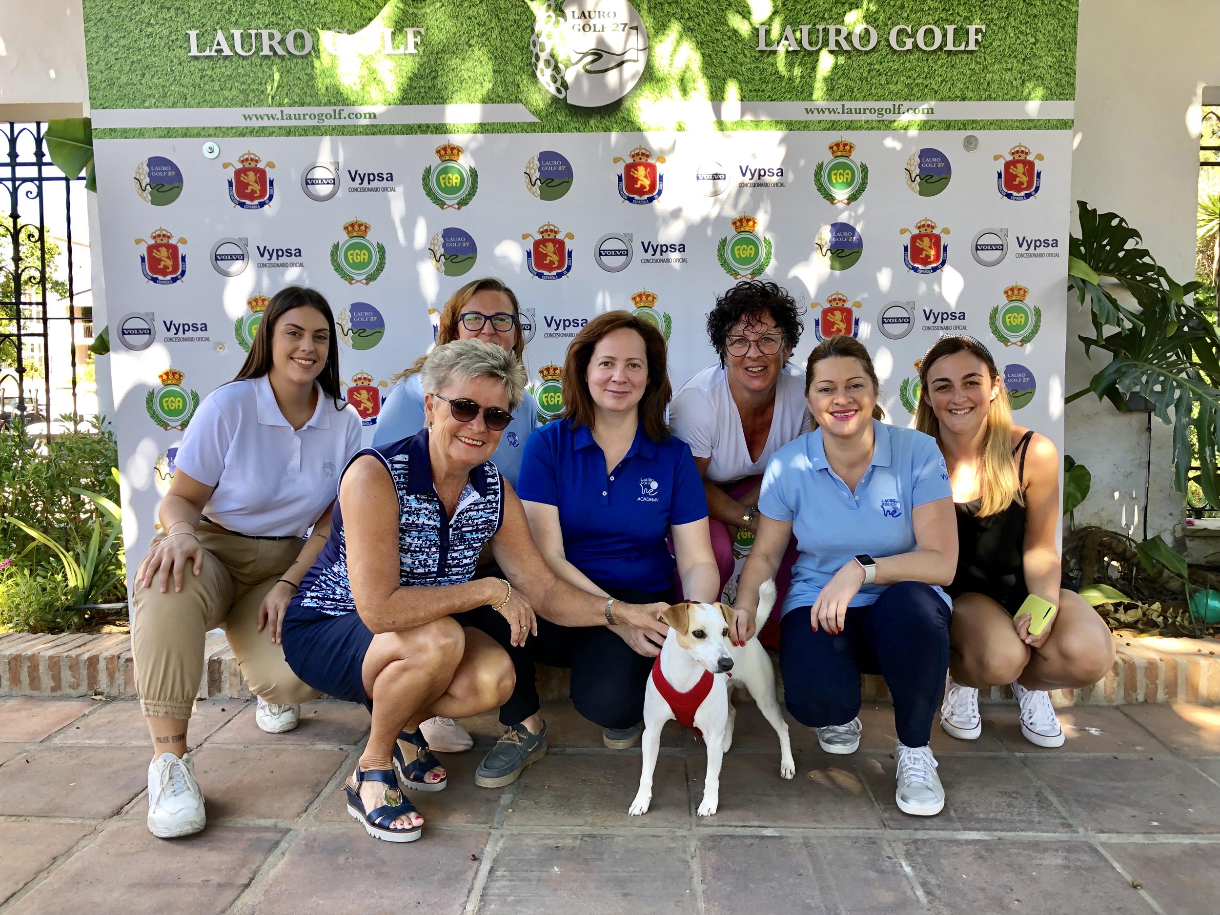 Con ele equipo de Lauro Golf, en Alhaurín de la Torre.