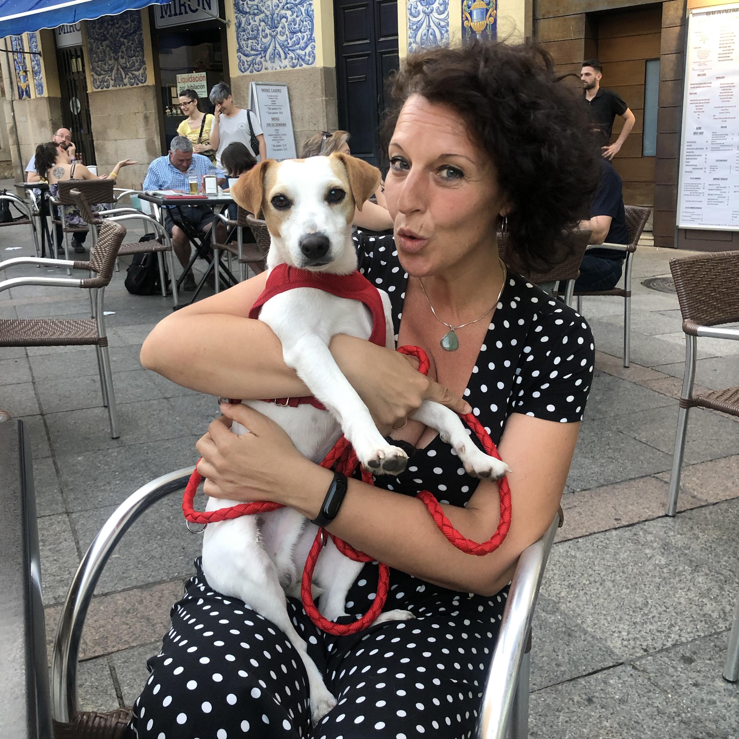Con Sonia en Cáceres.