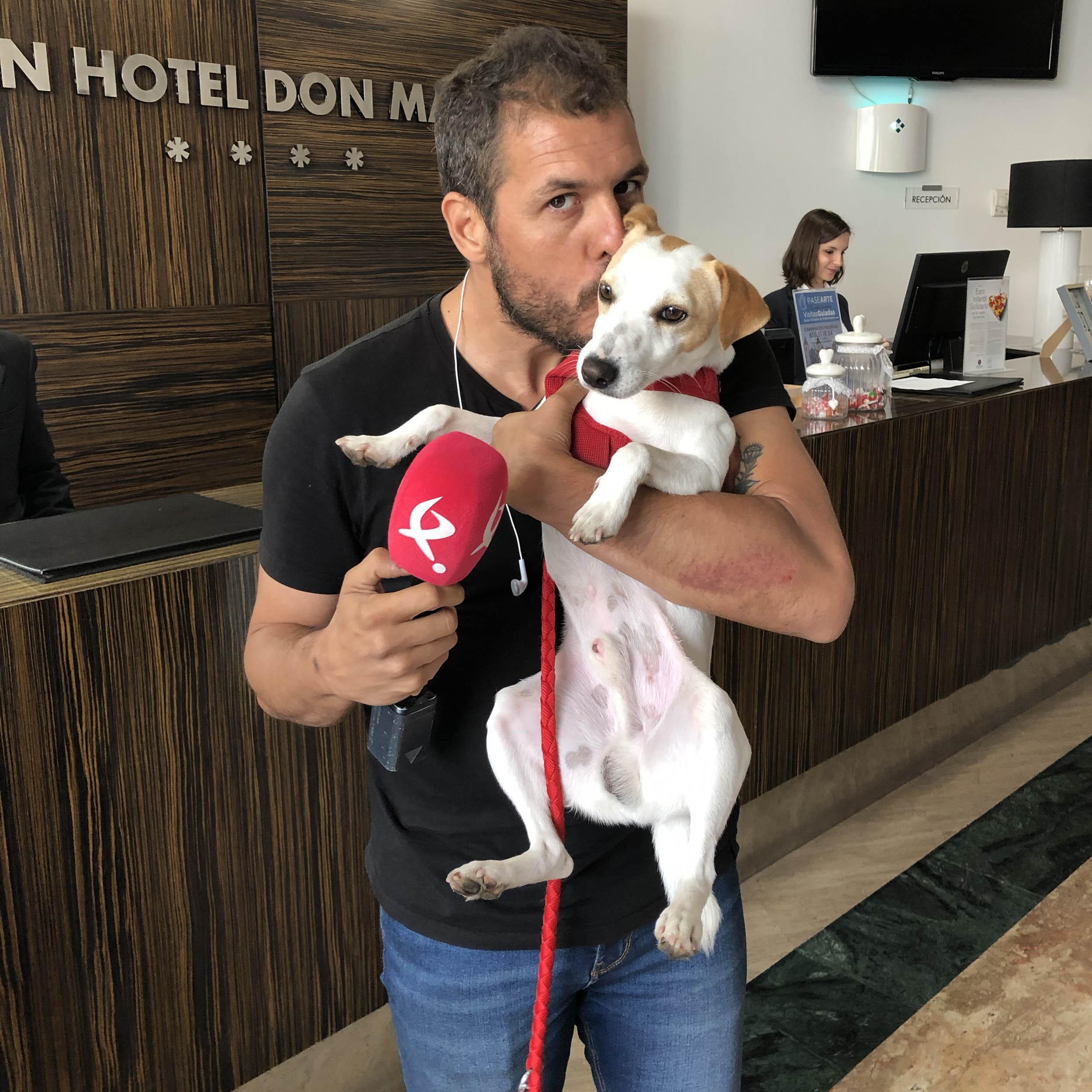 Con Manu, de la TV de Extremadura.