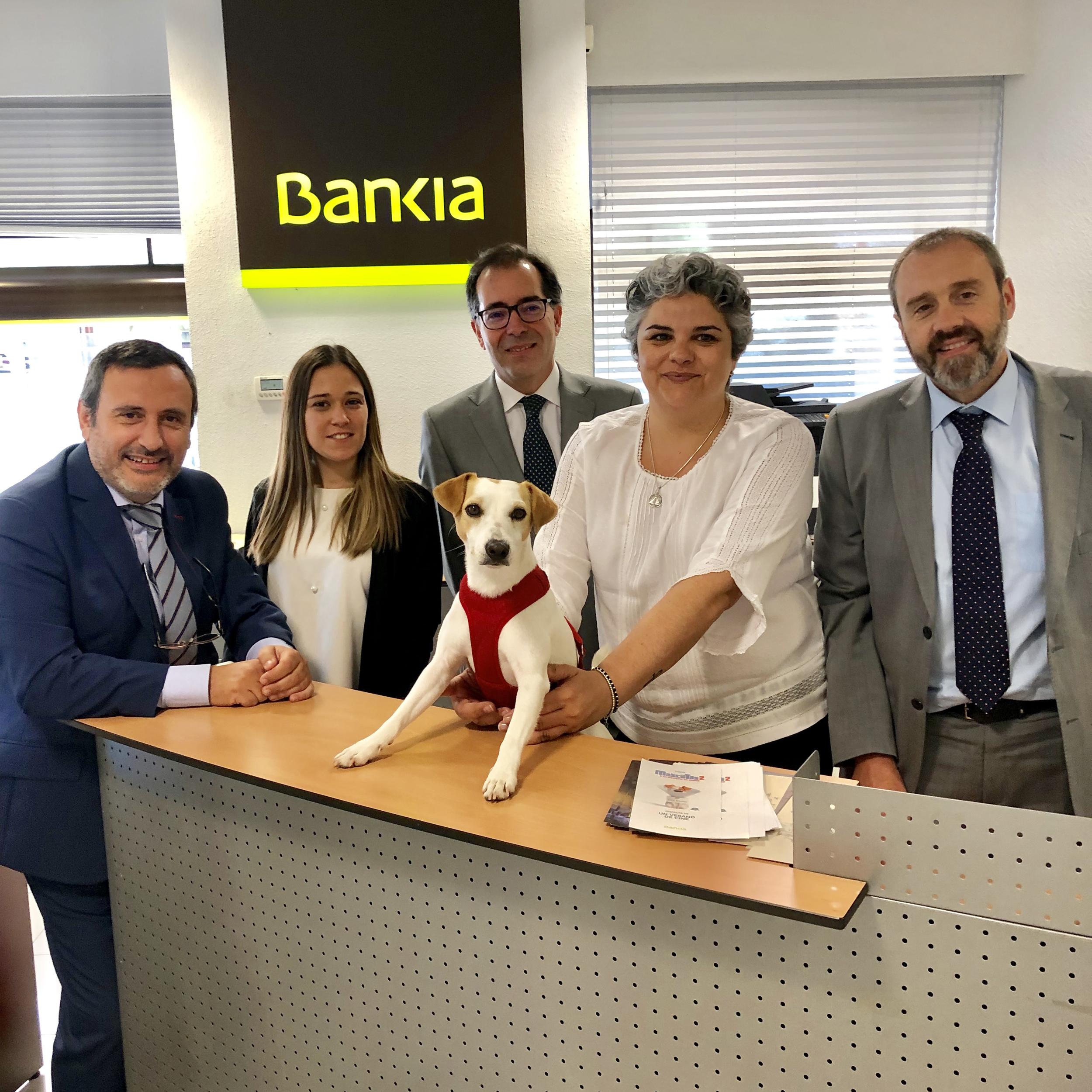 Con el equipo de Bankia dogfriendly en Cáceres.