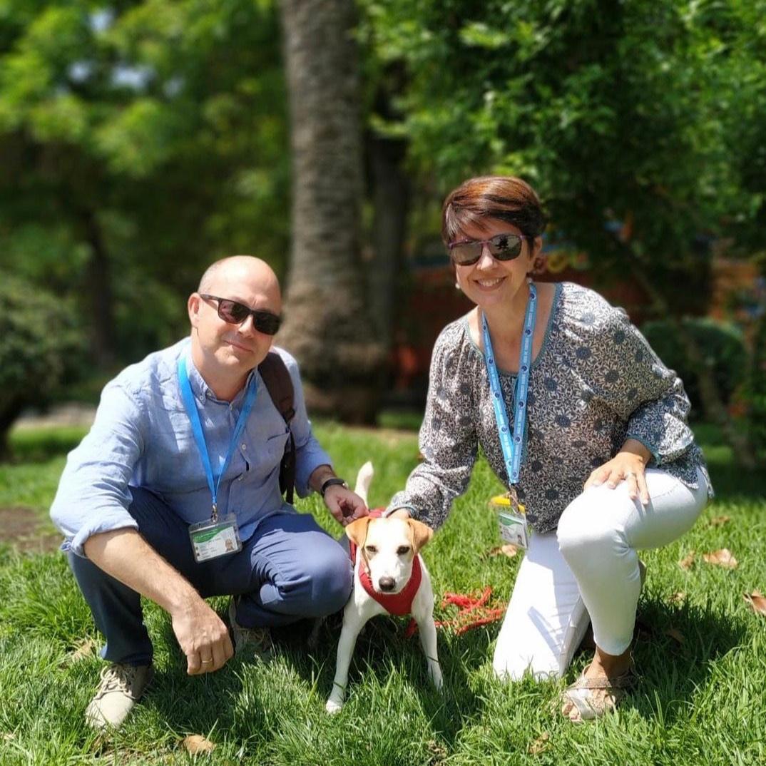 Con Longina y Arturo en Cáceres.