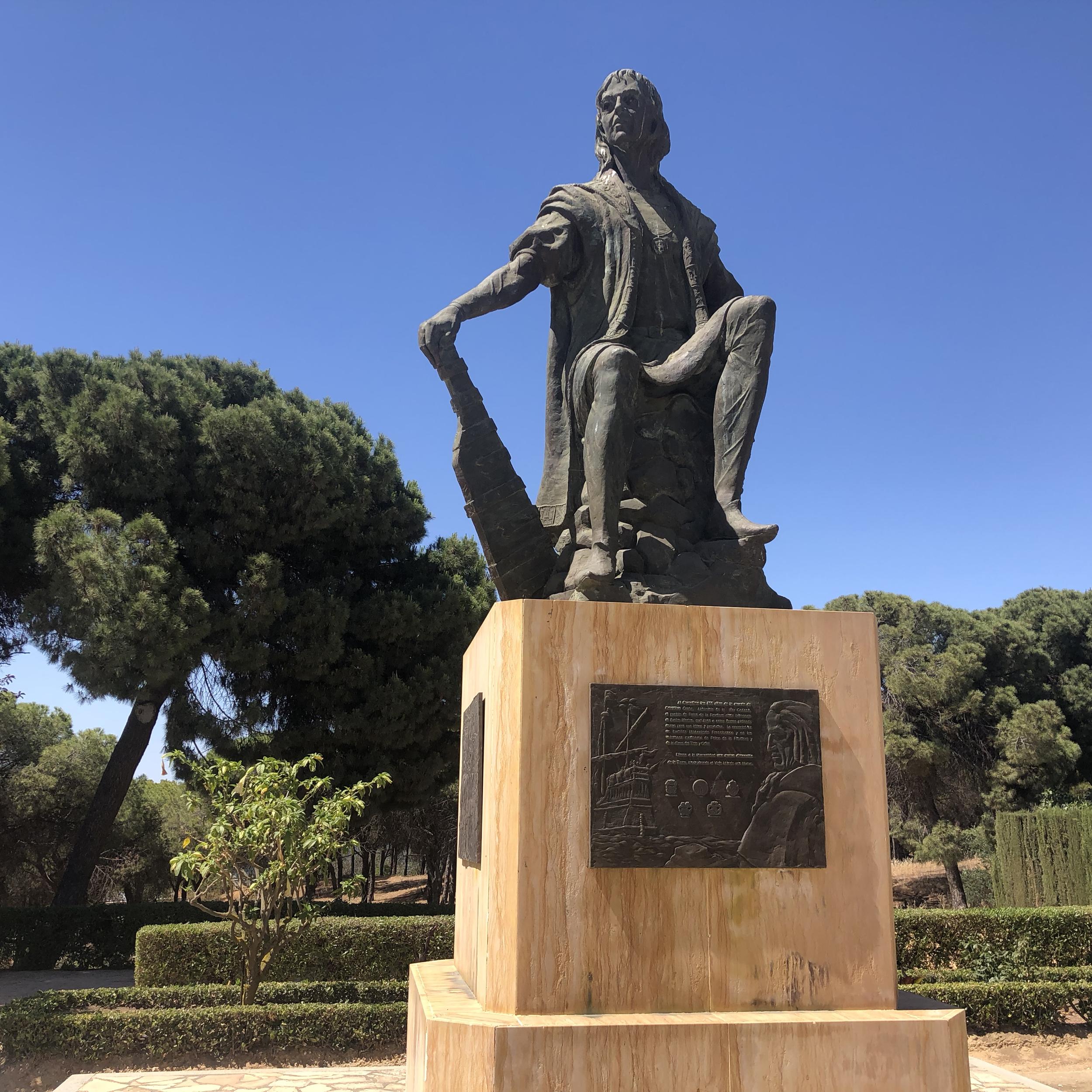 Monumento a Colón en La Rábida.