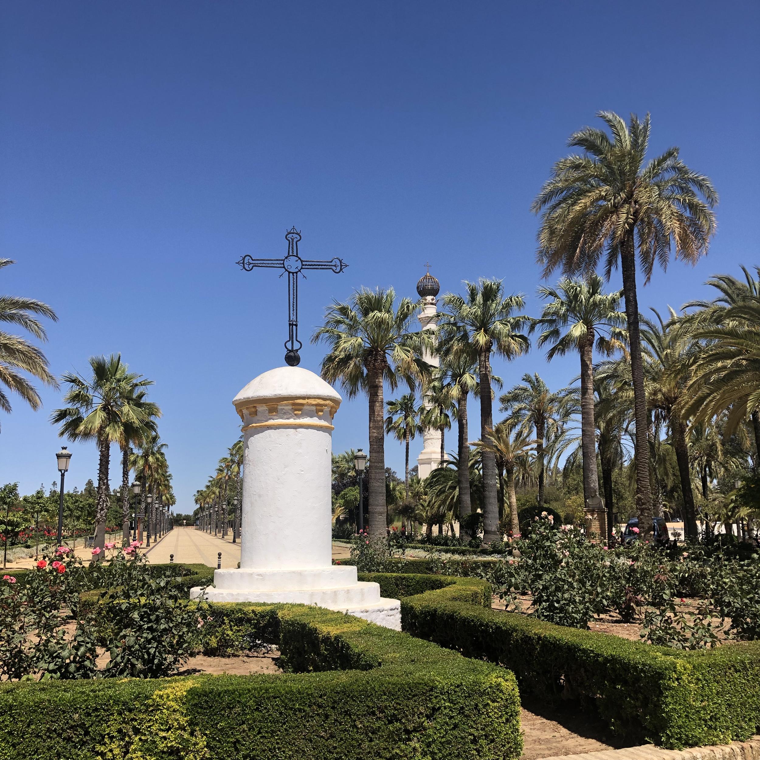 Jardines en La Rábida.