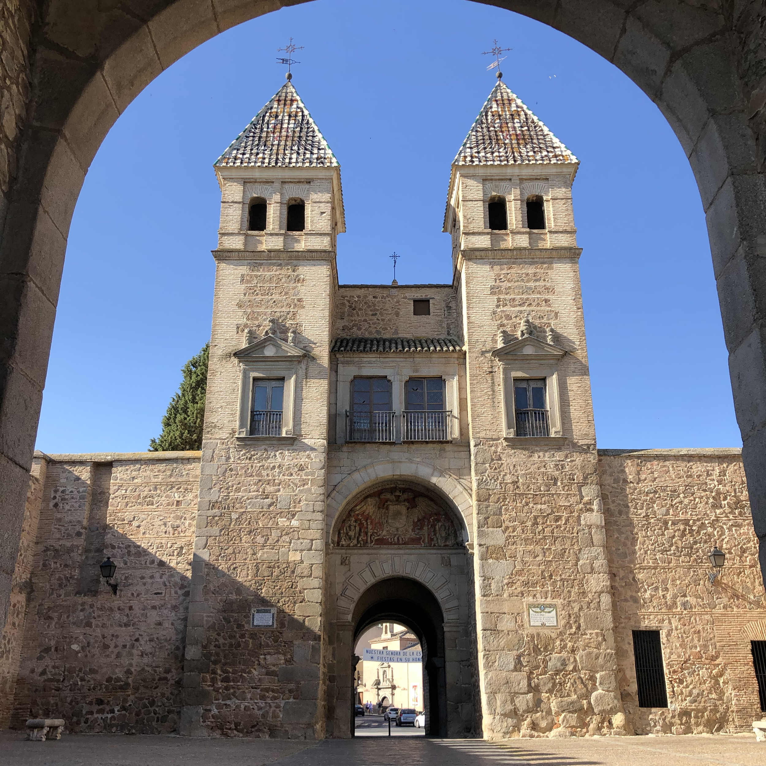 Parte interior de la Puerta de Bisagra.