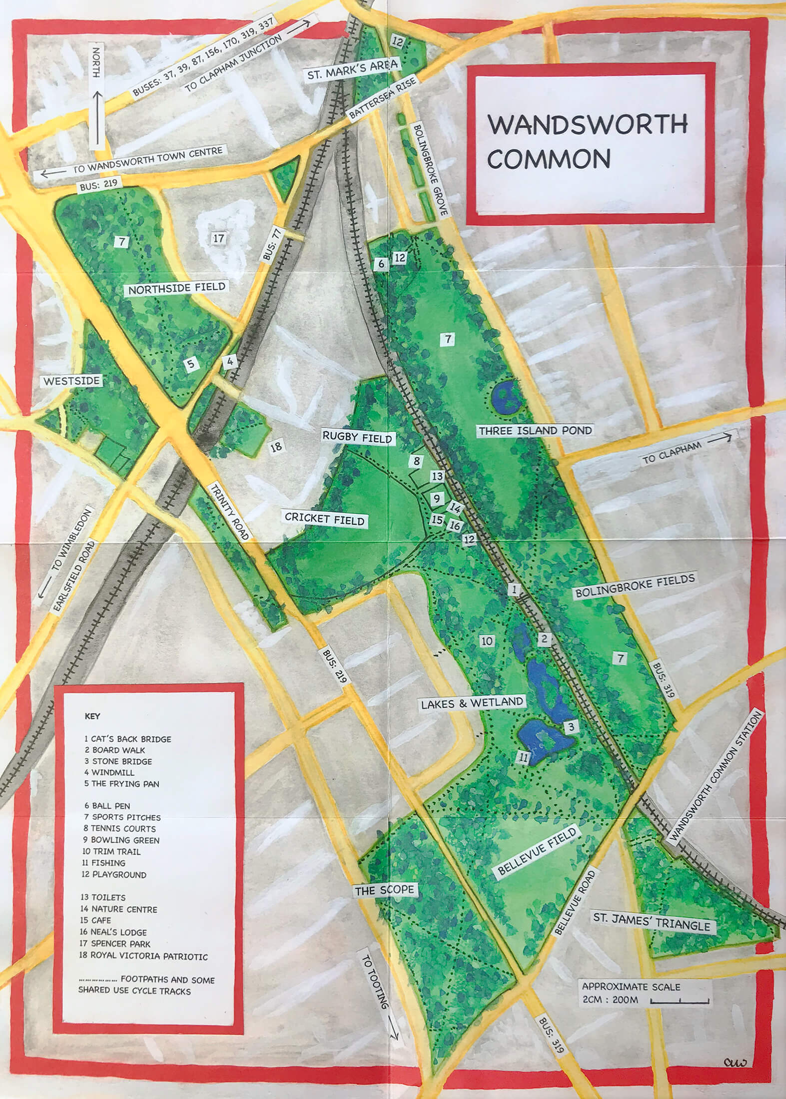 Wandsworth Common Map