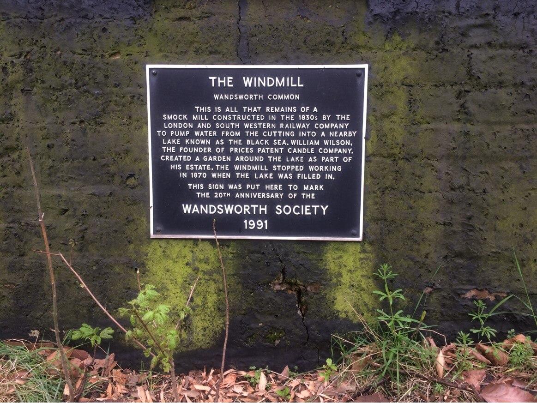 Wandsworth Common Windmill Plaque