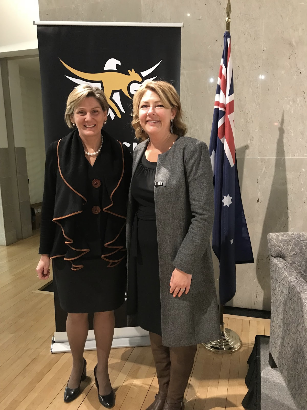 Deputy Chief of Mission, Katrina Cooper (left), Embassy of Australia