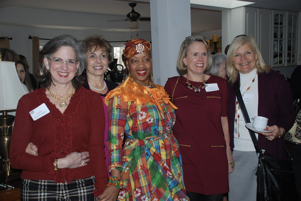 Gracious host Dr. Sylvia Charles (center), Embassy of Dominica