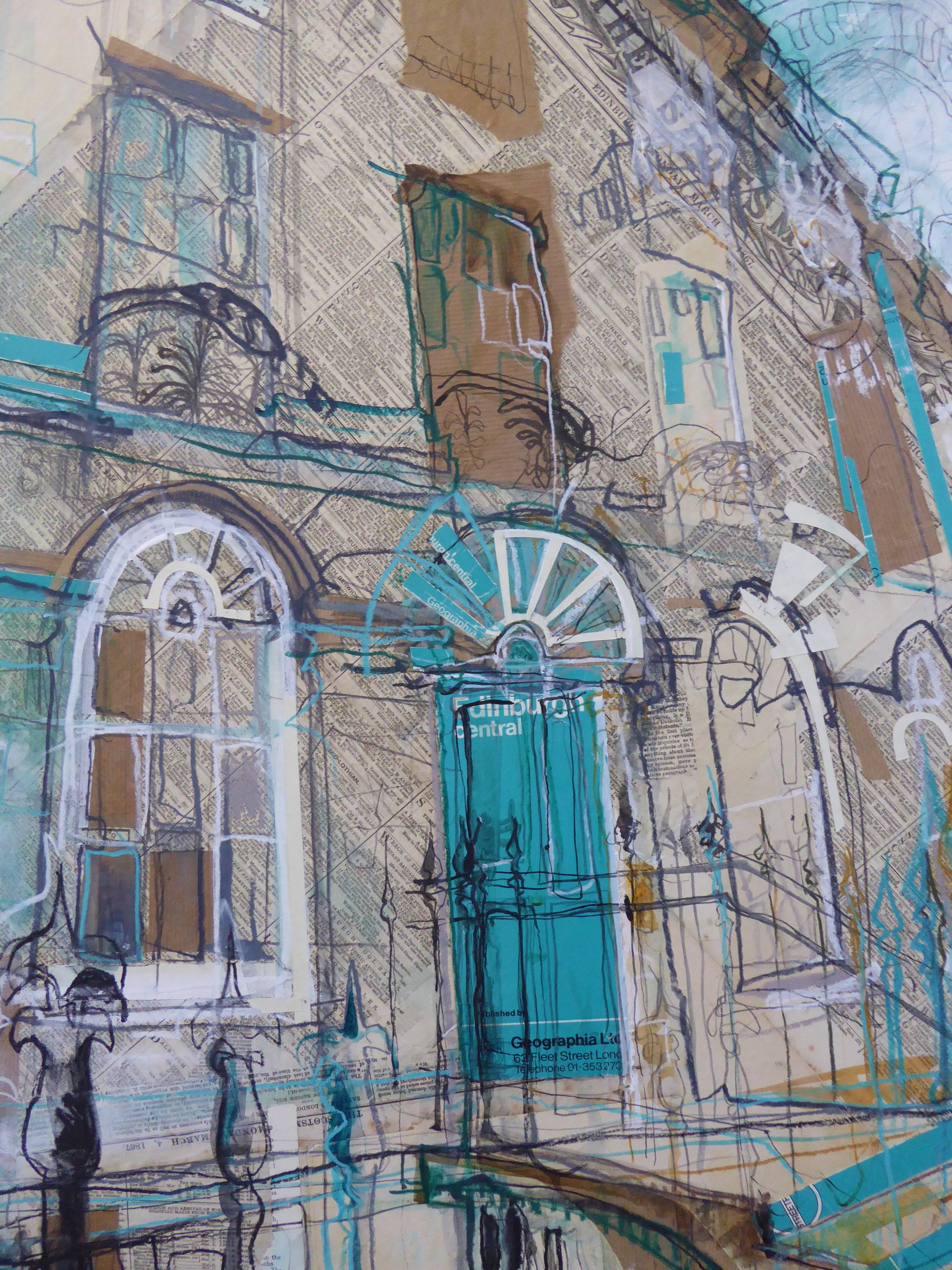 Turquoise Door, New Town