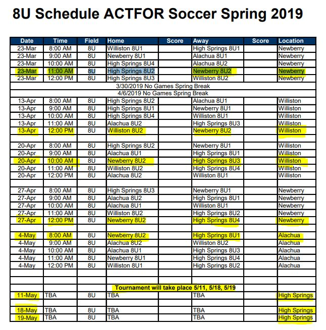 soccer schedule highlighted spring 2019.JPG