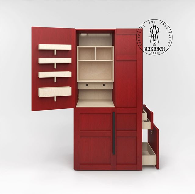 BOX K in red. Be bold. (2/3) . . . #wrkbnch #wrkbnchfurniture #wrkbnchdesign #storage #contemporary #furniture #shelf #storage #room #apartment #indoors #inside #family #cabinet #modern #drawer #house #wood #mirror #red #interiordesign #furnituredesign #interiors #architectural #sexy #needit #bebold #statement #lfa2019