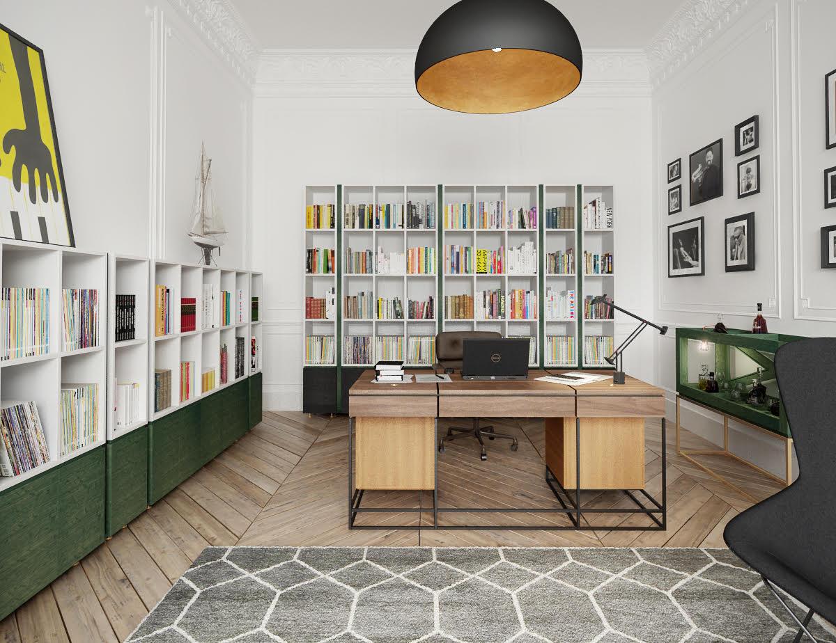 Hampstead Home Office Interior Design Desk Joinery Styling 2.jpg