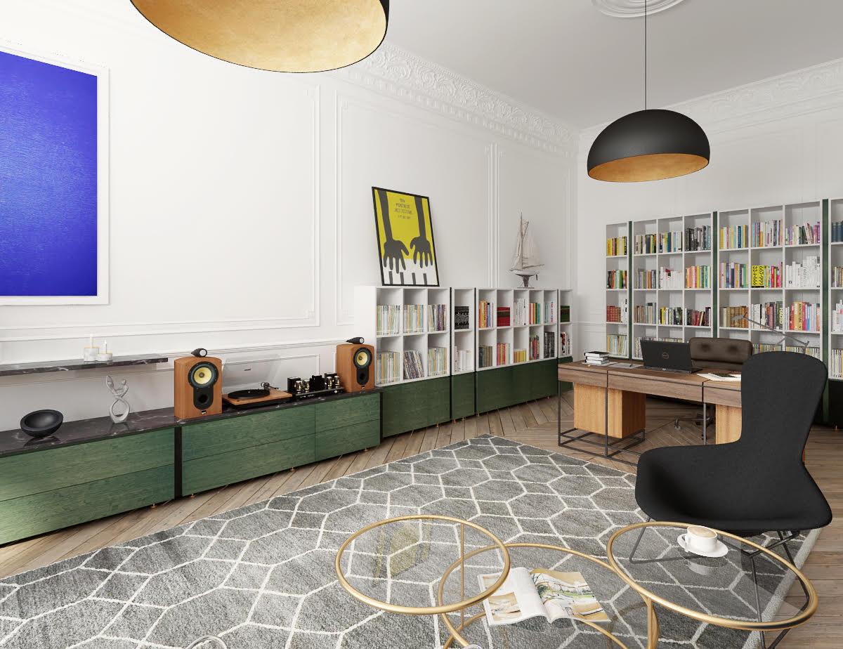 Hampstead Home Office Interior Design Desk Joinery Styling 3.jpg