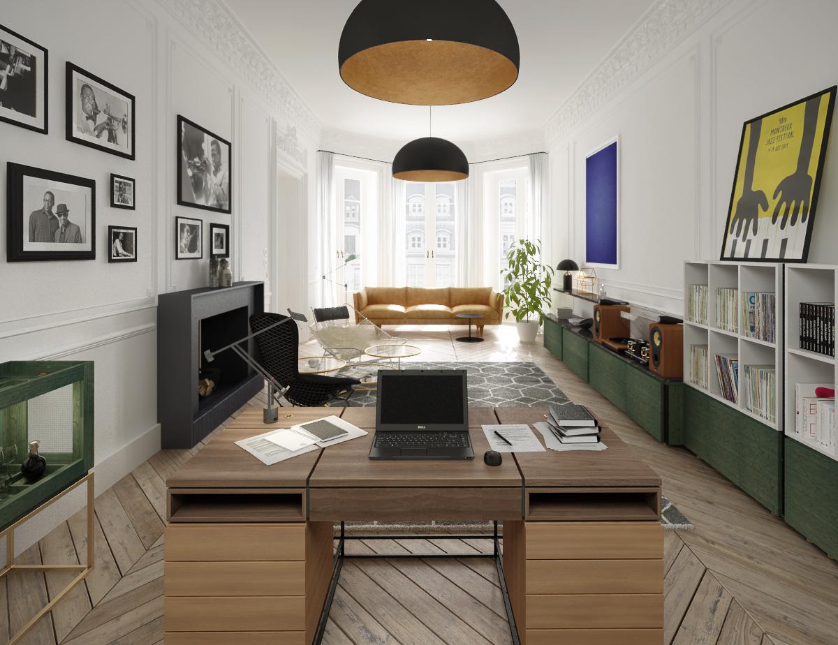 Hampstead Home Office Interior Design Desk Joinery Styling 4.jpg