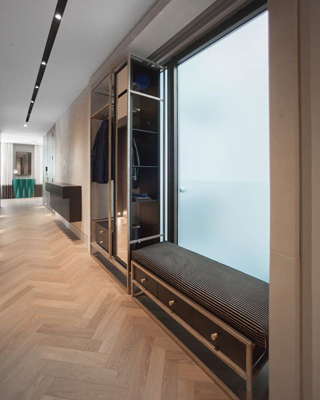 Take a look at these brass framed storage units we designed for this central London apartment. We were appointed to carry out a whole flat redesign and fit out. Everything you see we designed / manufactured or specified. (1/3) . . . #inside #contemporary #apartment #indoors #family #house #room #interiordesign #design #modern #furniture #luxury #wall #wood #window #londonarchitecture #architecture #flooring #joinery #archilovers #livingroom #bespoke #apartment #interiors